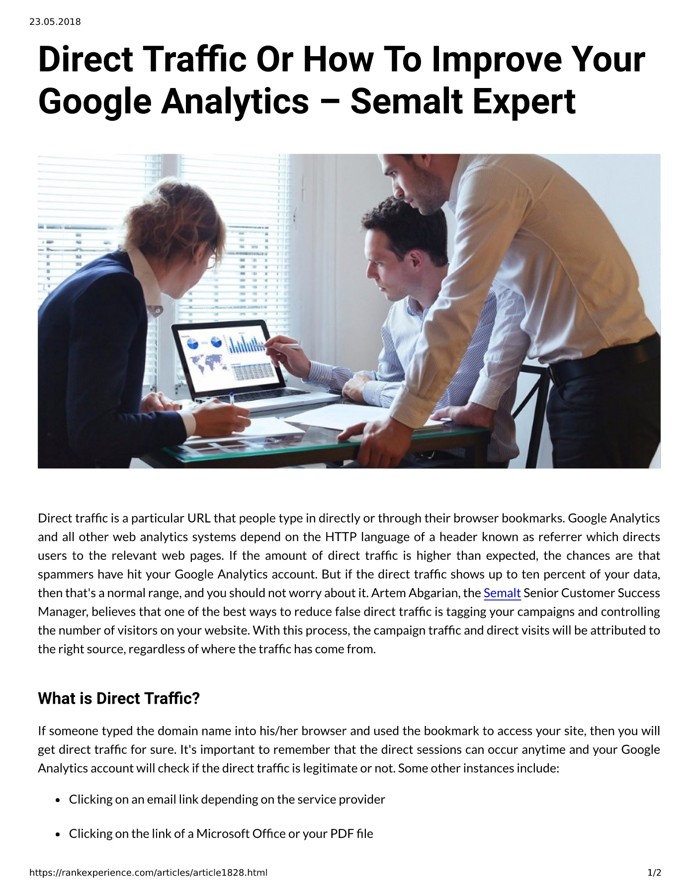 Direct Trac Or How To Improve Your Google Analytics – Semalt
