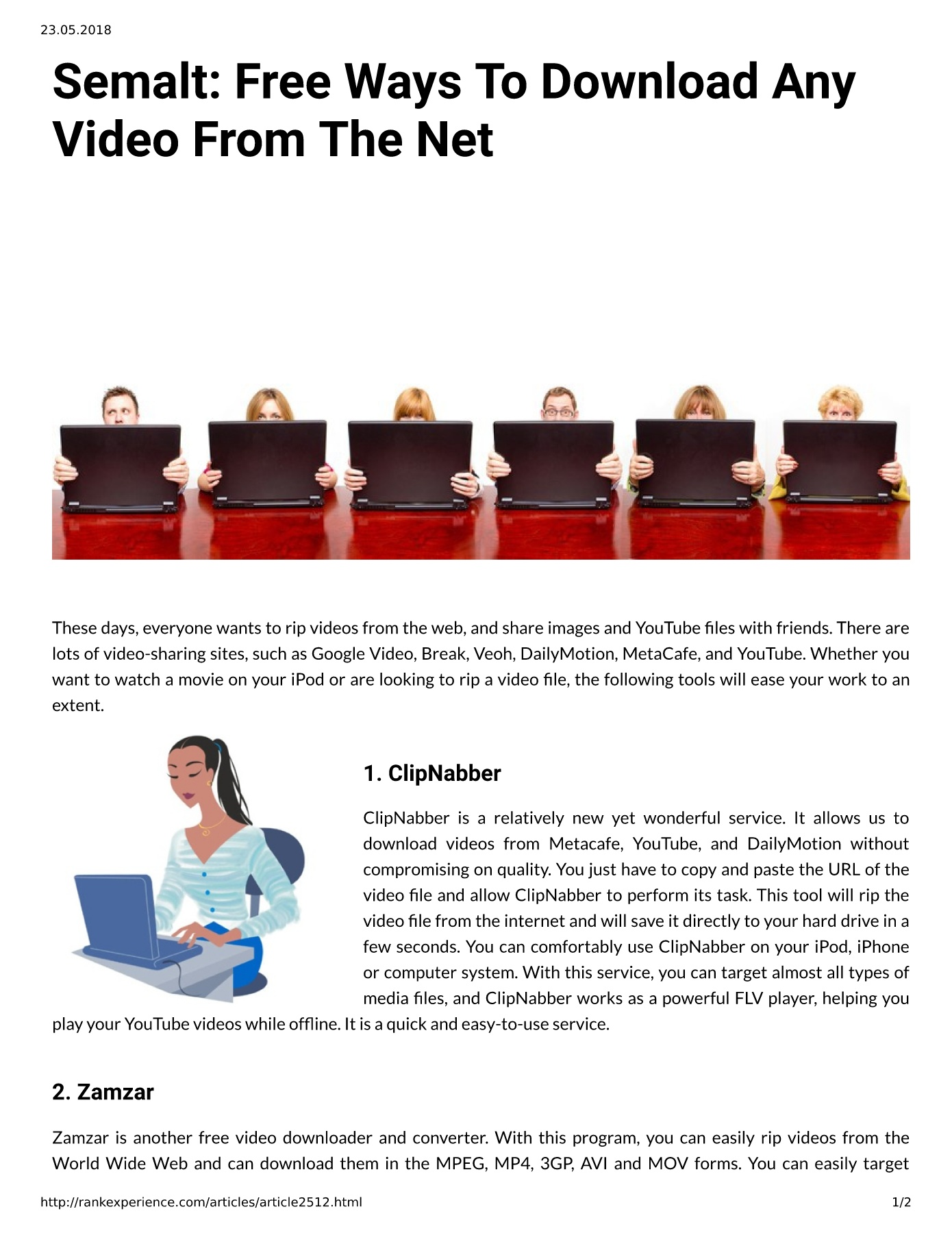 Semalt: Free Ways To Download Any Video From The Net Pages 1 - 2