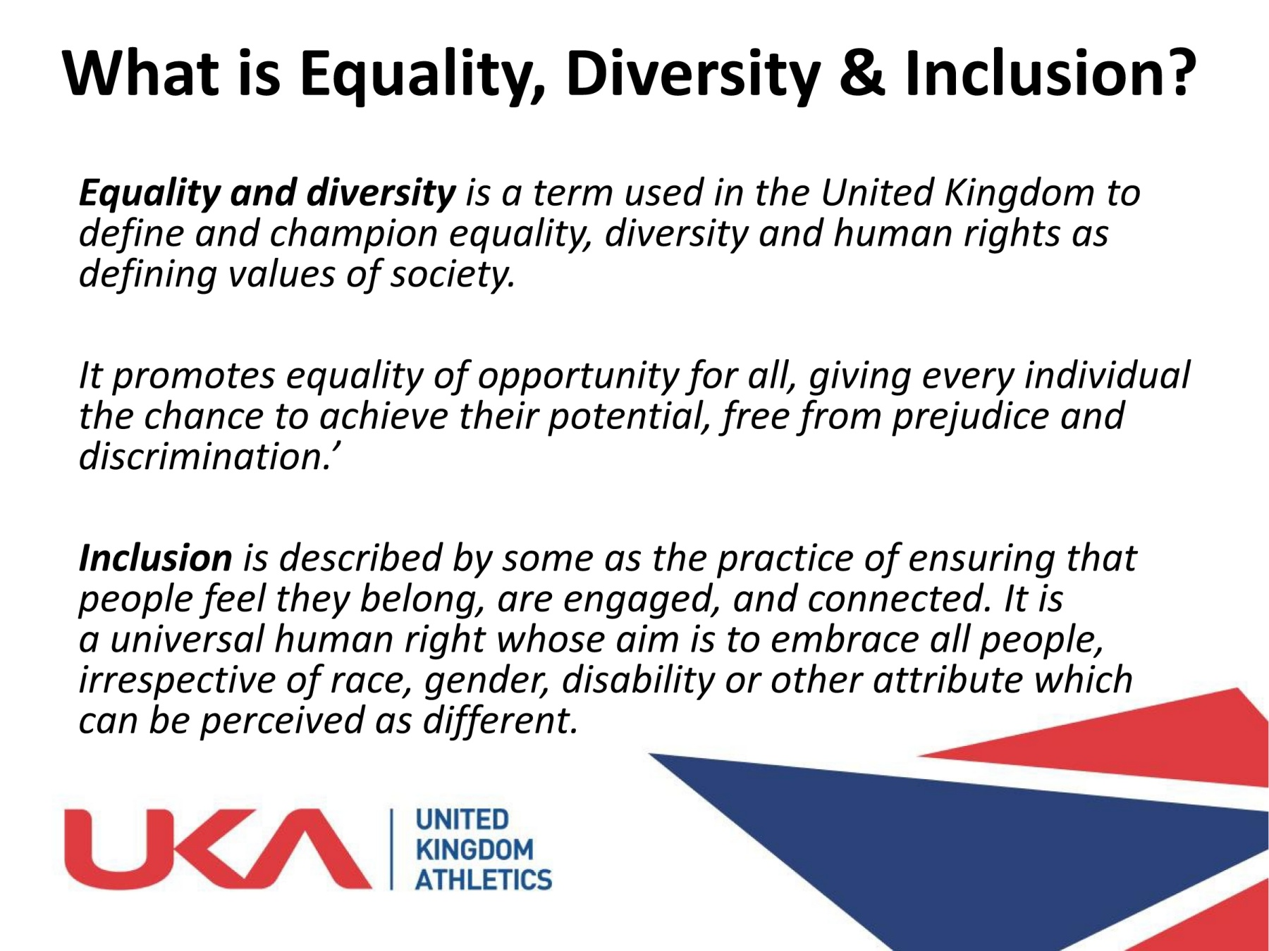 concept of equality and diversity