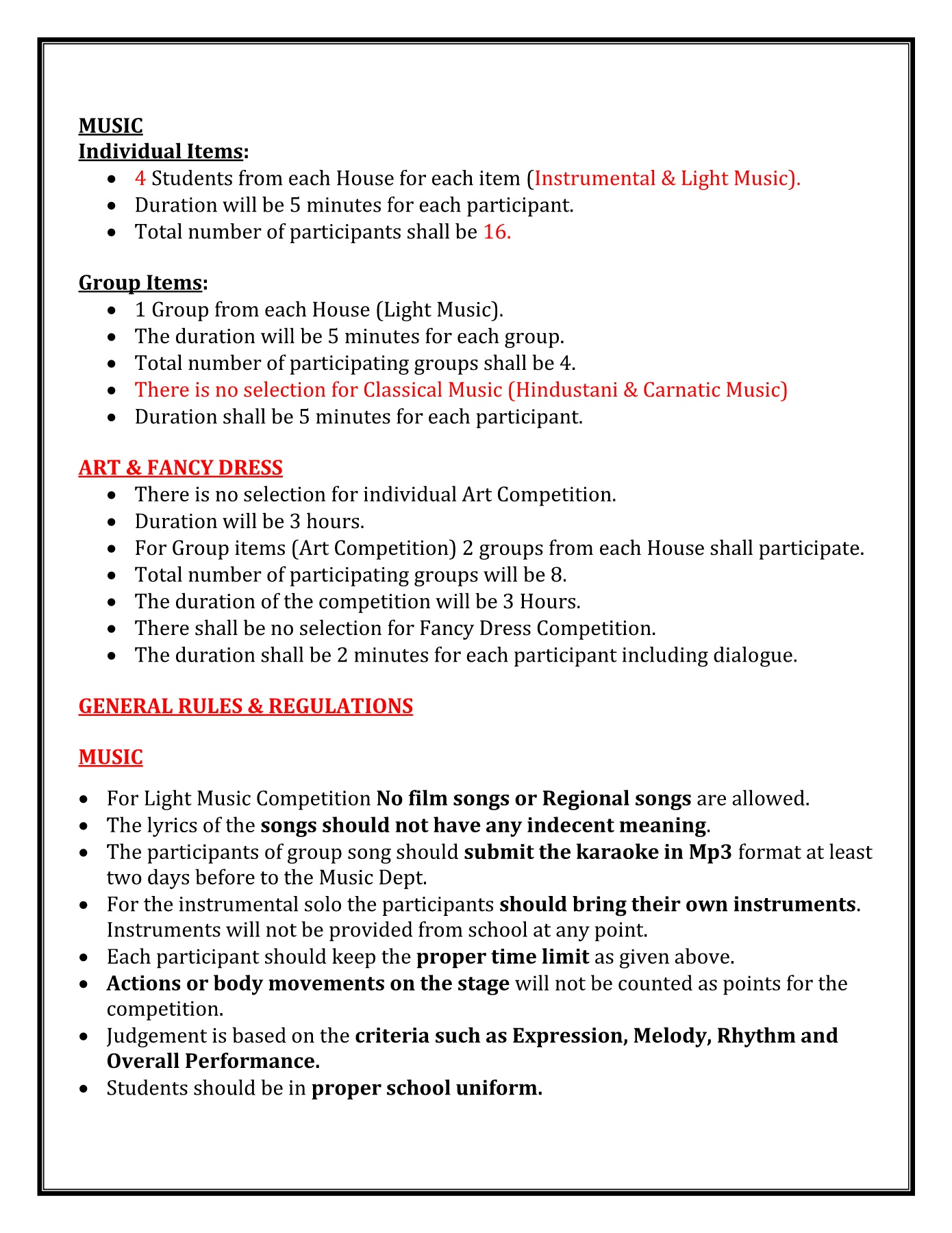 ONLINE CIRCULAR of Cultural Fest Pages 1 - 7 - Text Version
