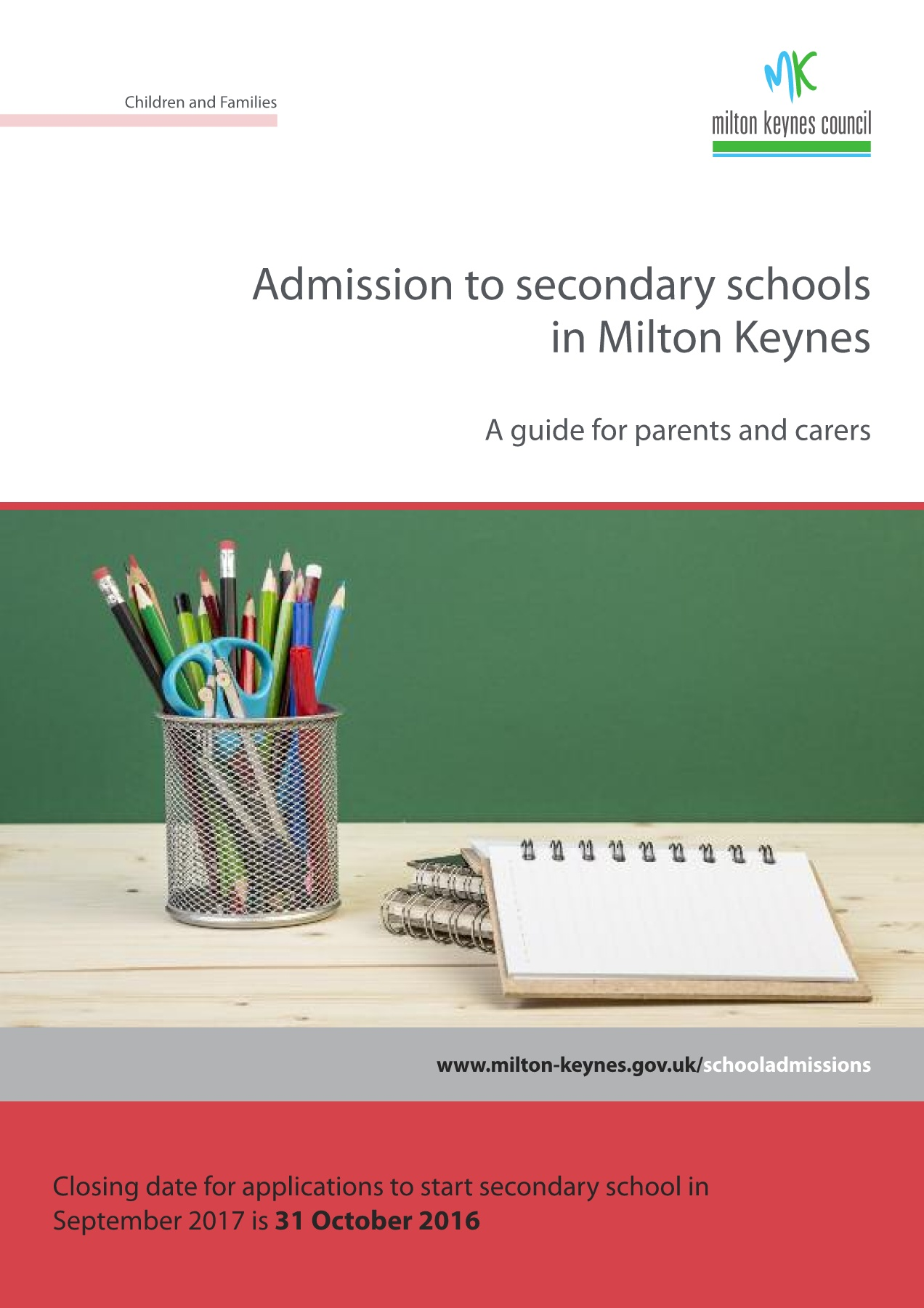Secondary Admissions guide for parents and carers 2017 Pages