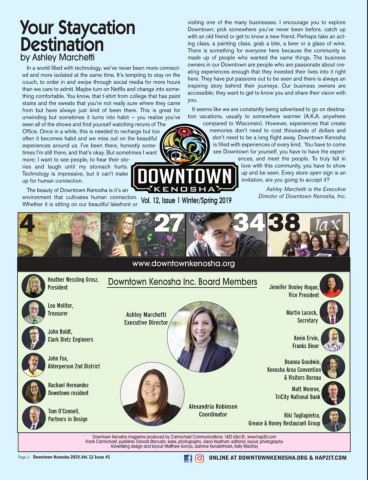 Downtown Kenosha 2019 Issue 1 Pages 1