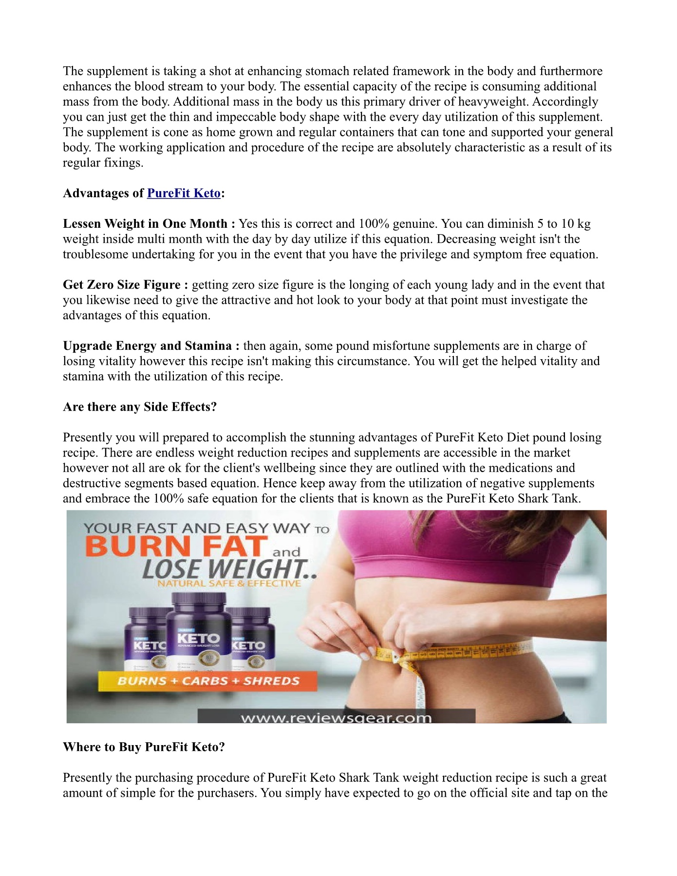 Purefit Keto Pages 1 - 4 - Text Version | AnyFlip
