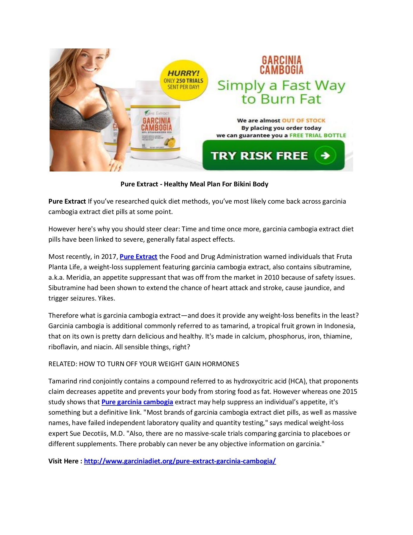 Pure Extract Natural Weight Loss Garcinia Cambogia Pages 1 1