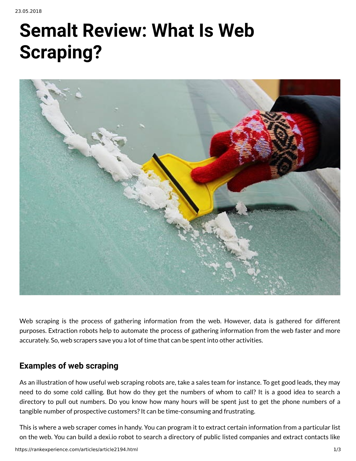 Semalt Review: What Is Web Scraping? Pages 1 - 3 - Text