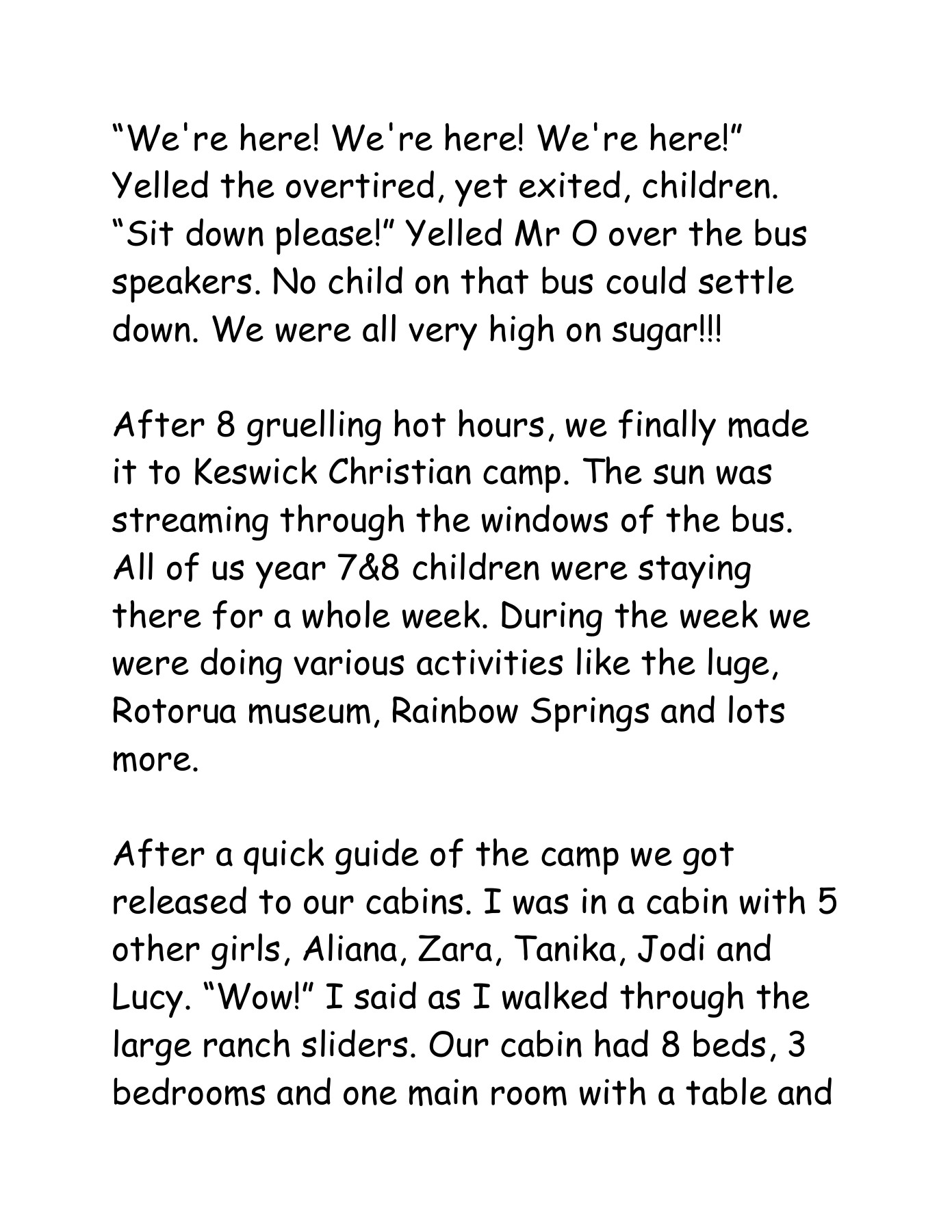 camp recount Pages 1 - 8 - Text Version | AnyFlip