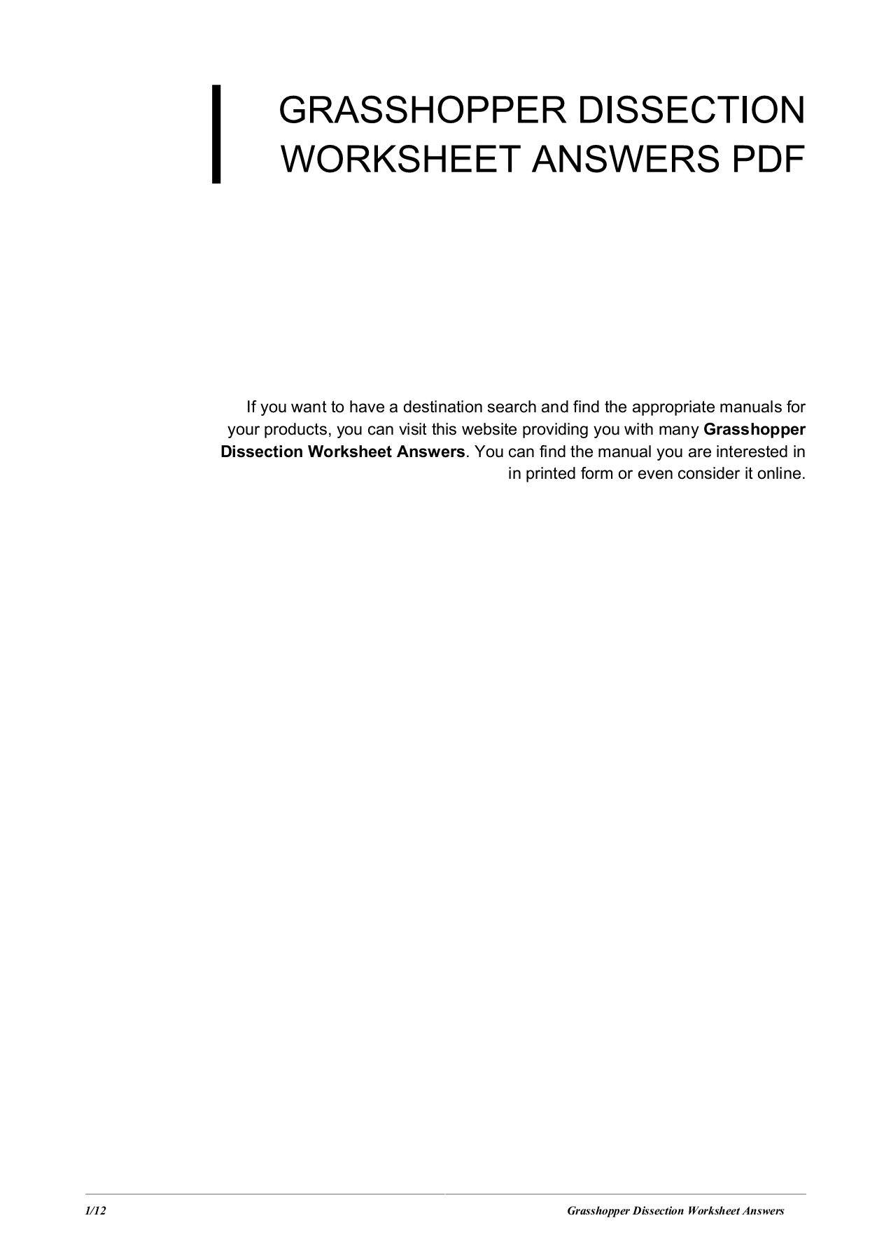 Grasshopper Dissection Worksheet Answers - mucaiyang net
