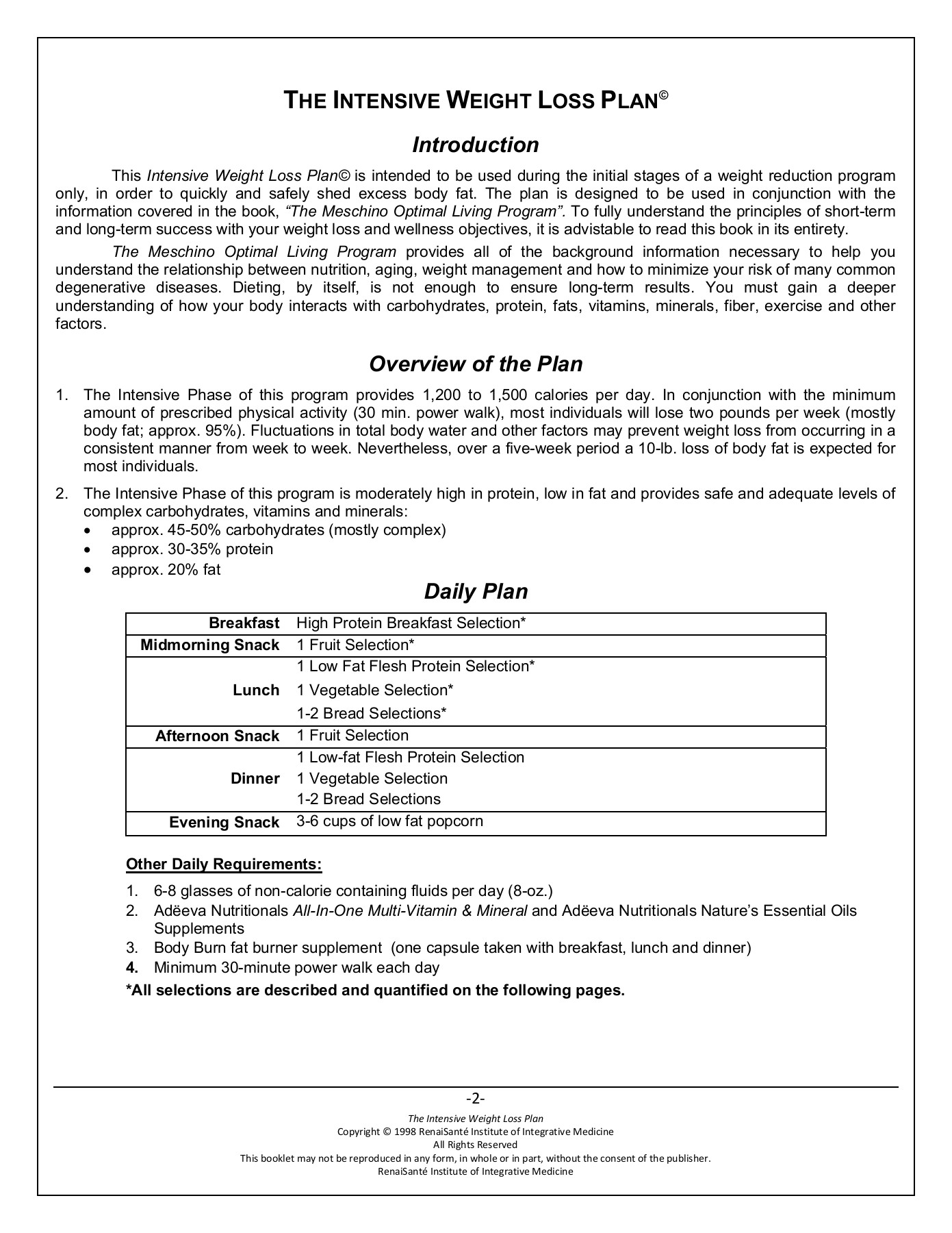 The Intensive Weight Loss Plan Adeeva Com Pages 1 10 Text
