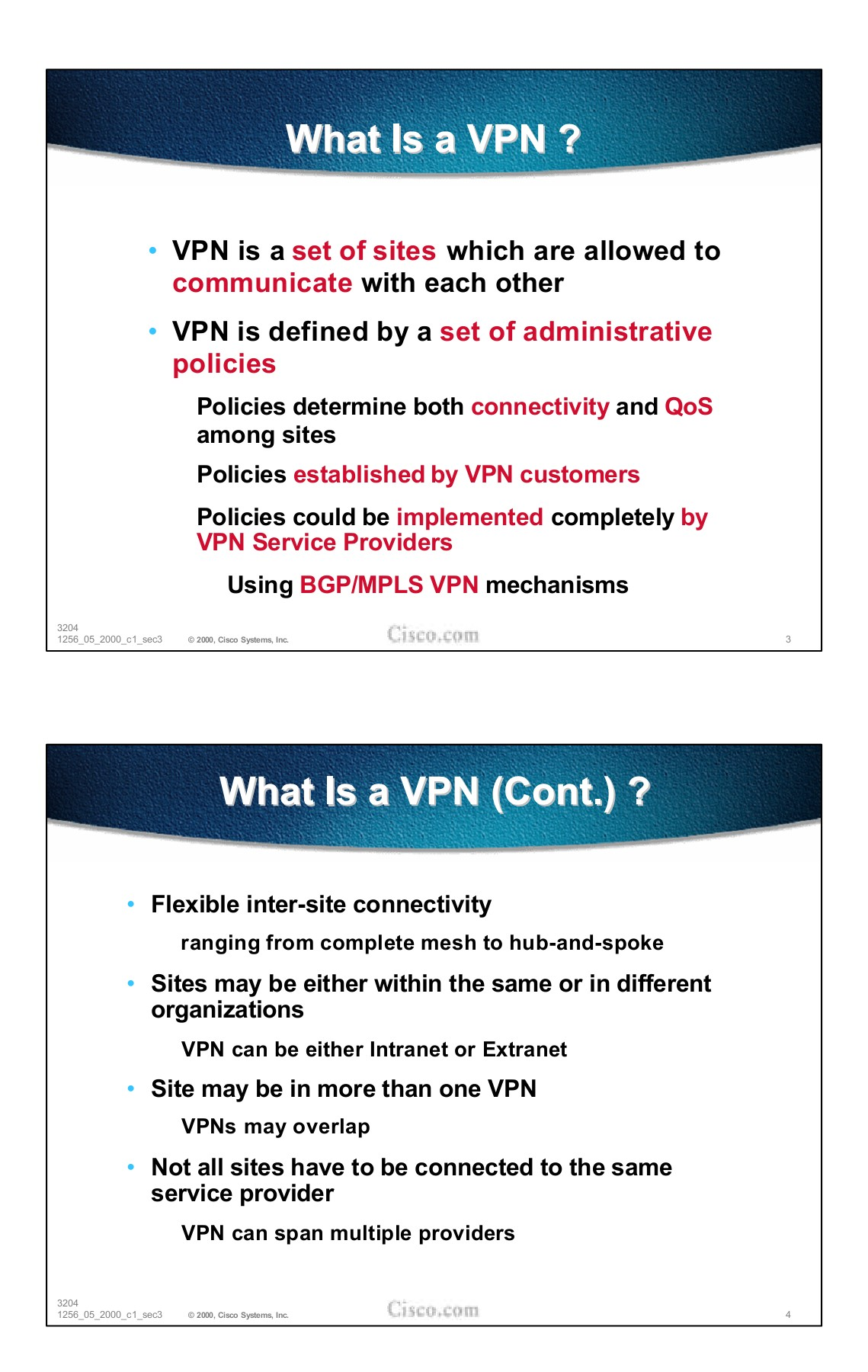 BGP/MPLS VPNs Basics - Cisco Systems, Inc Pages 1 - 29 - Text
