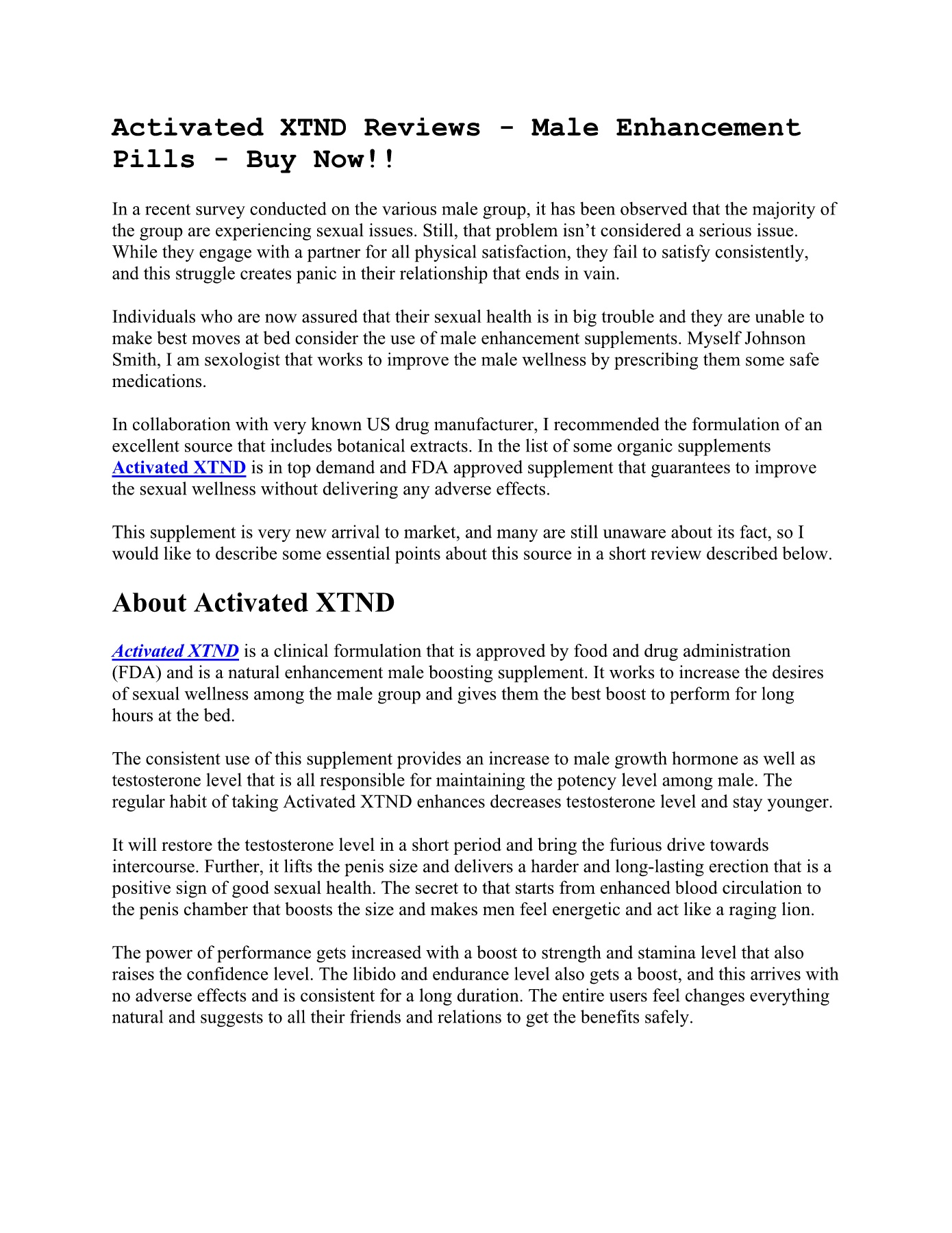 Activated XTND Reviews Pages 1 - 5 - Text Version | AnyFlip
