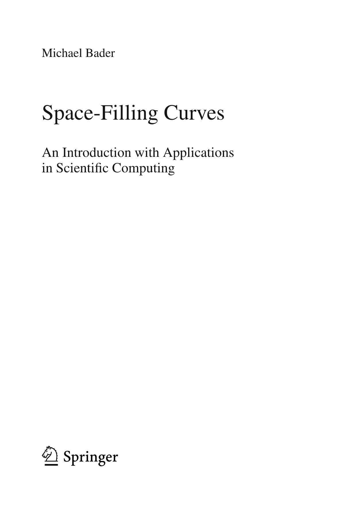 Space-Filling Curves Springer Pages 1 - 50 - Text Version | AnyFlip