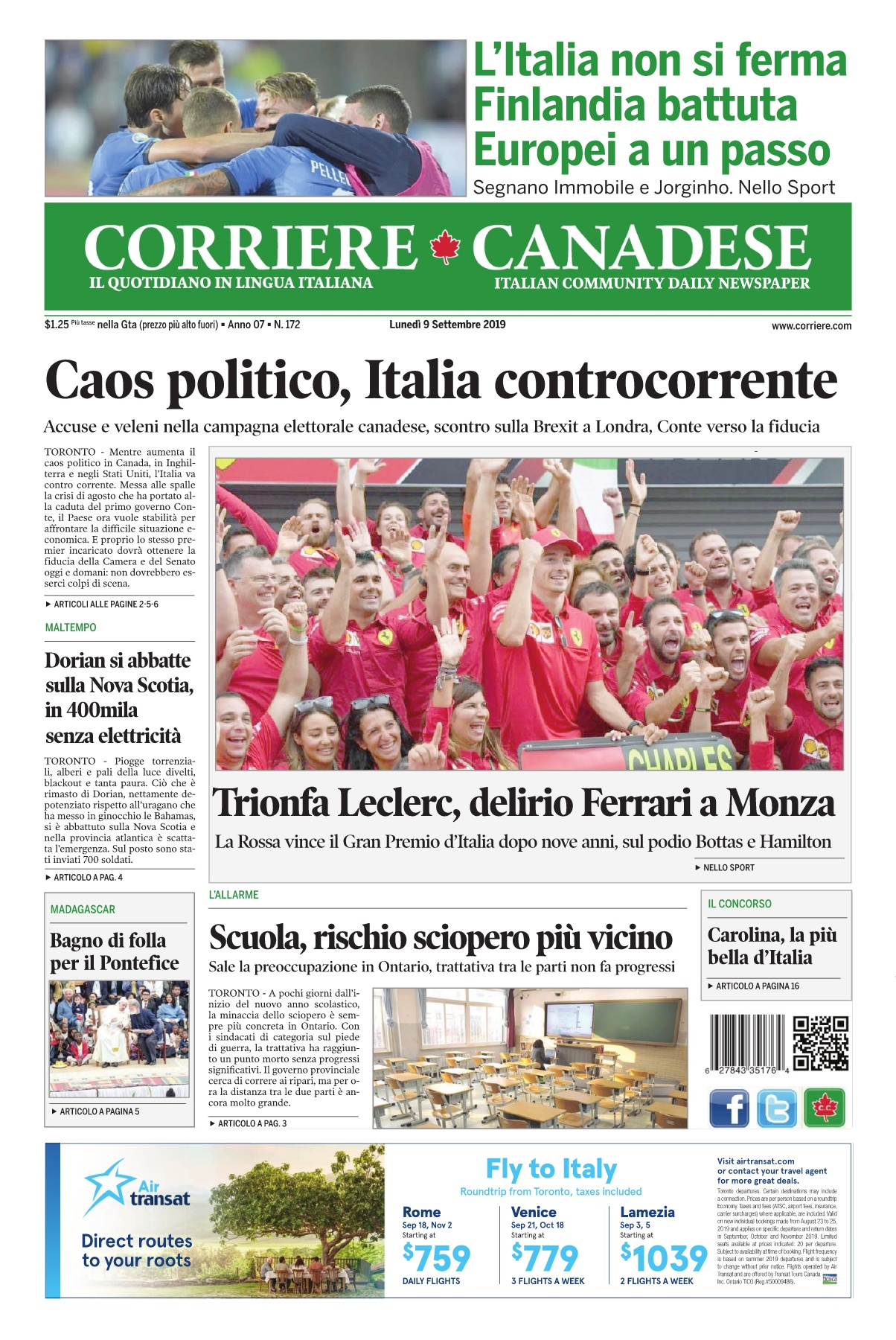 Corriere Canadese 9 Settembre 2019 Pages 1 16 Text Version Anyflip