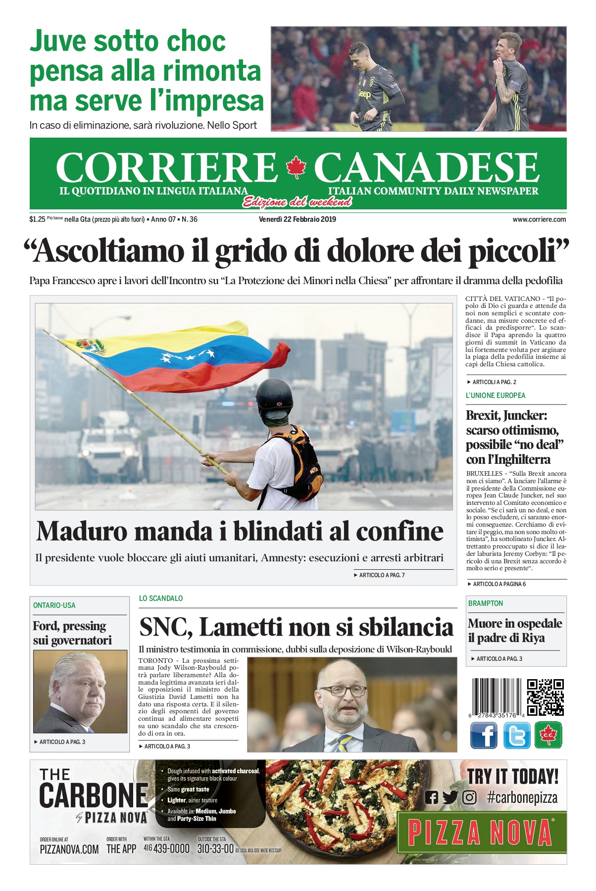Corriere Canadese (22-02-2019) Pages 1 - 16 - Text Version  fc0ef0053d5