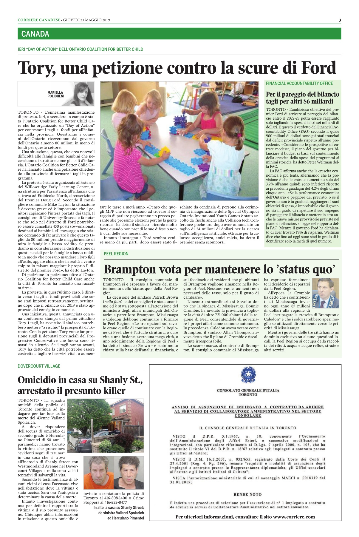 Corriere Canadese (23-05-2019) | AnyFlip