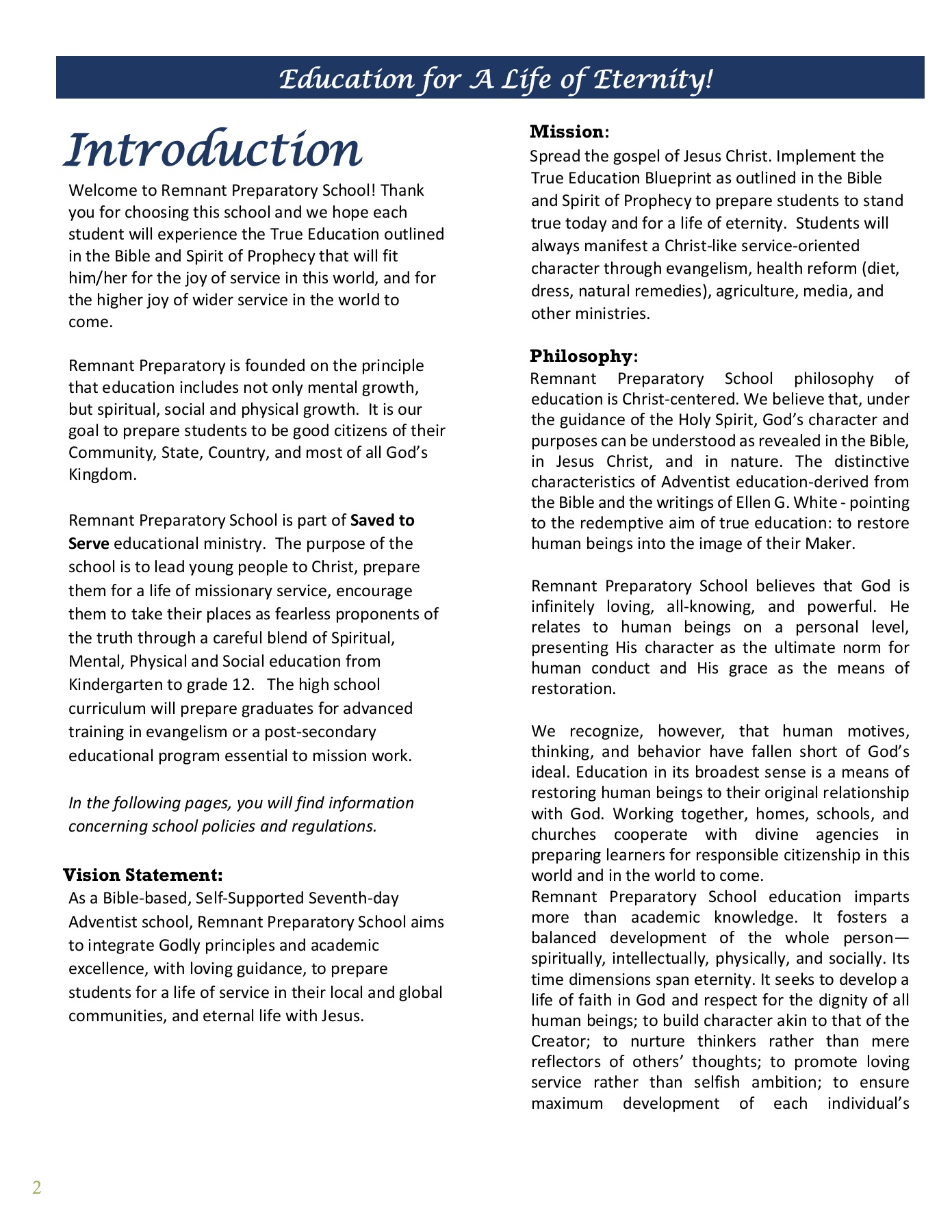 student Handbook Pages 1 - 15 - Text Version | AnyFlip