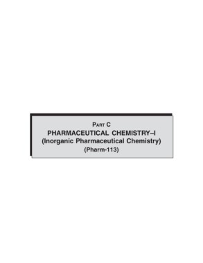 PART C PHARMACEUTICAL CHEMISTRY–I (Inorganic     Pages 1 - 29 - Text