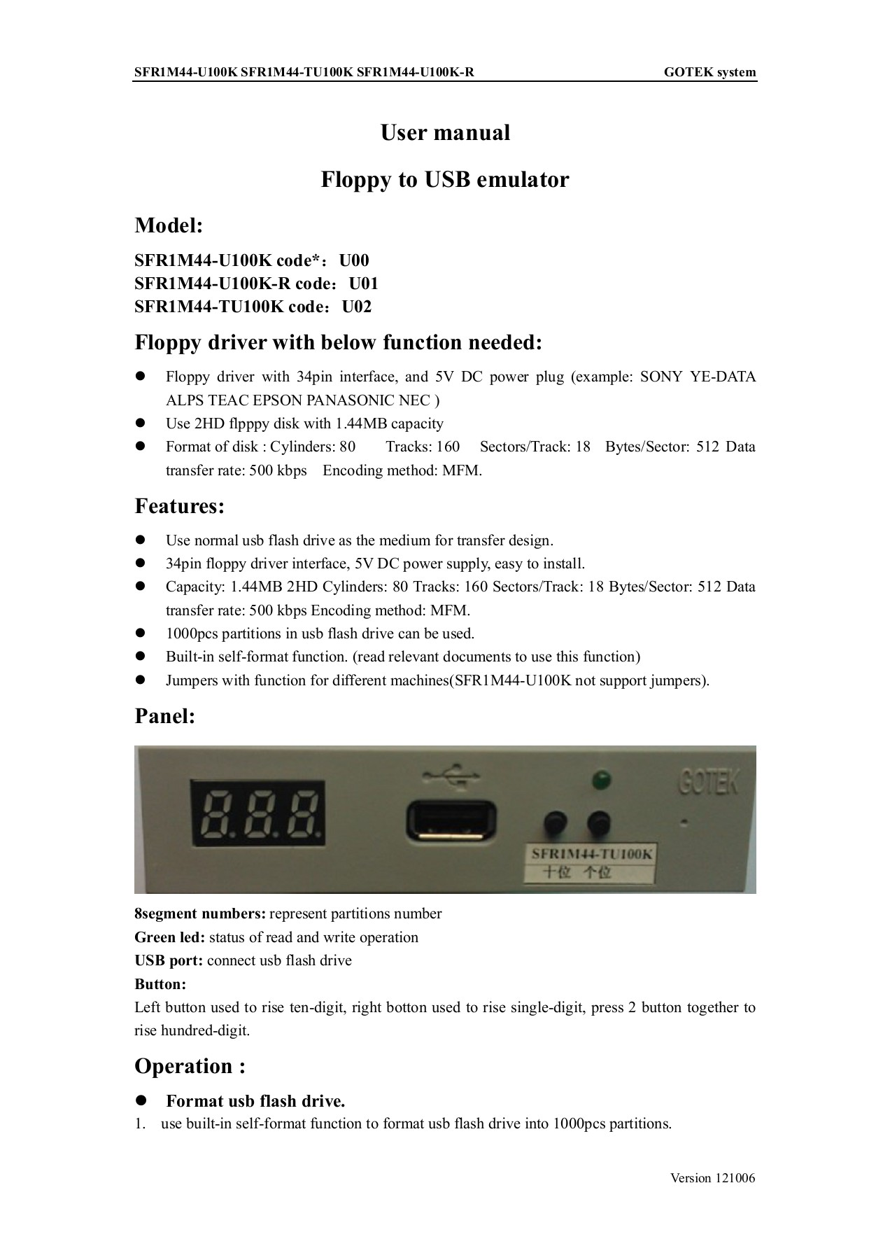 User manual Floppy to USB emulator - Gough's Tech Zone Pages