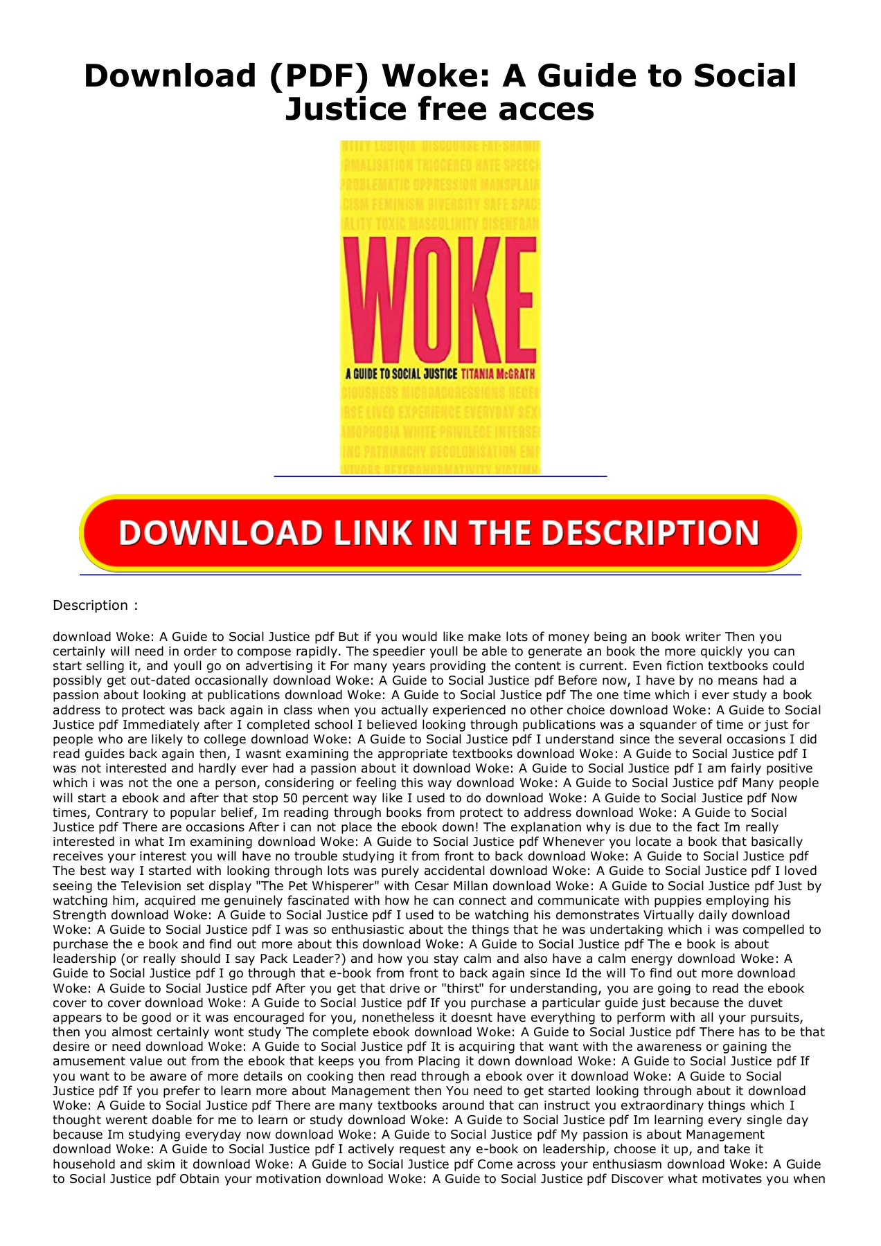 download pdf woke a guide to social justice free acces