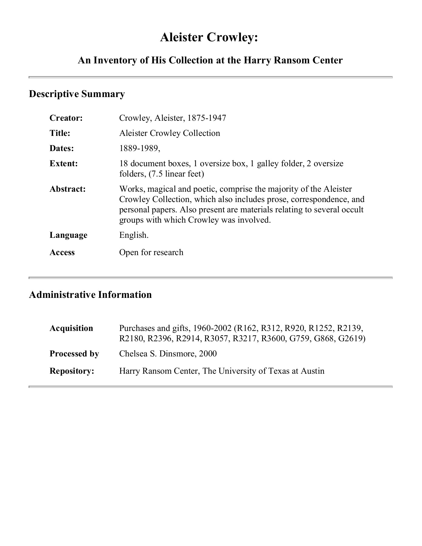 Aleister Crowley - IIS7 Pages 1 - 25 - Text Version | AnyFlip