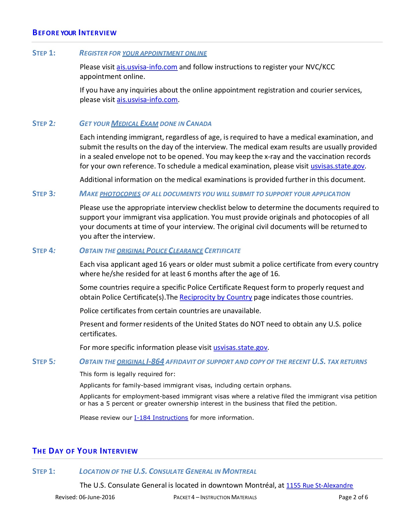 ACKET NSTRUCTI ON M - travel state gov Pages 1 - 10 - Text