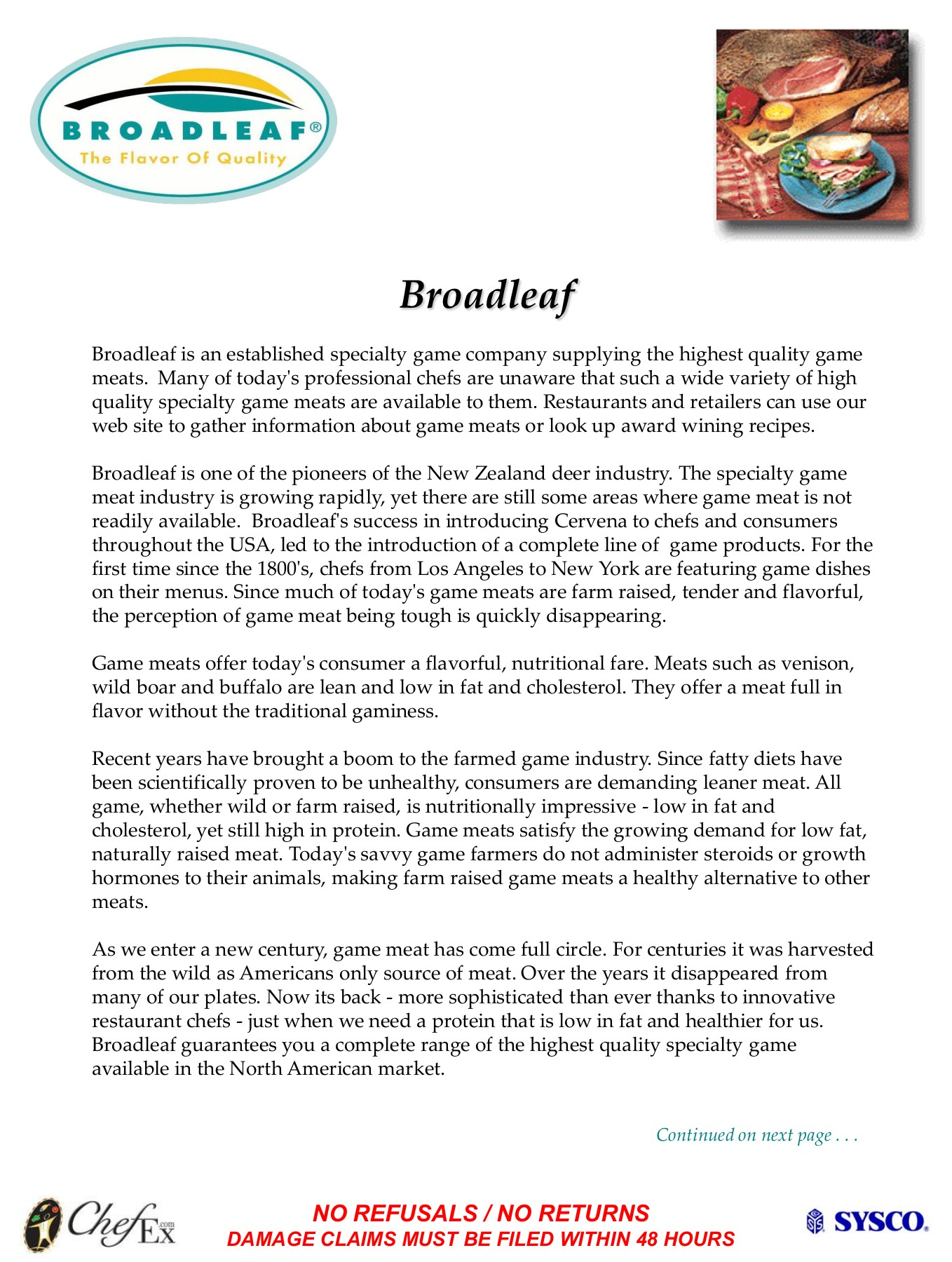 Broadleaf - Sysco Pages 1 - 4 - Text