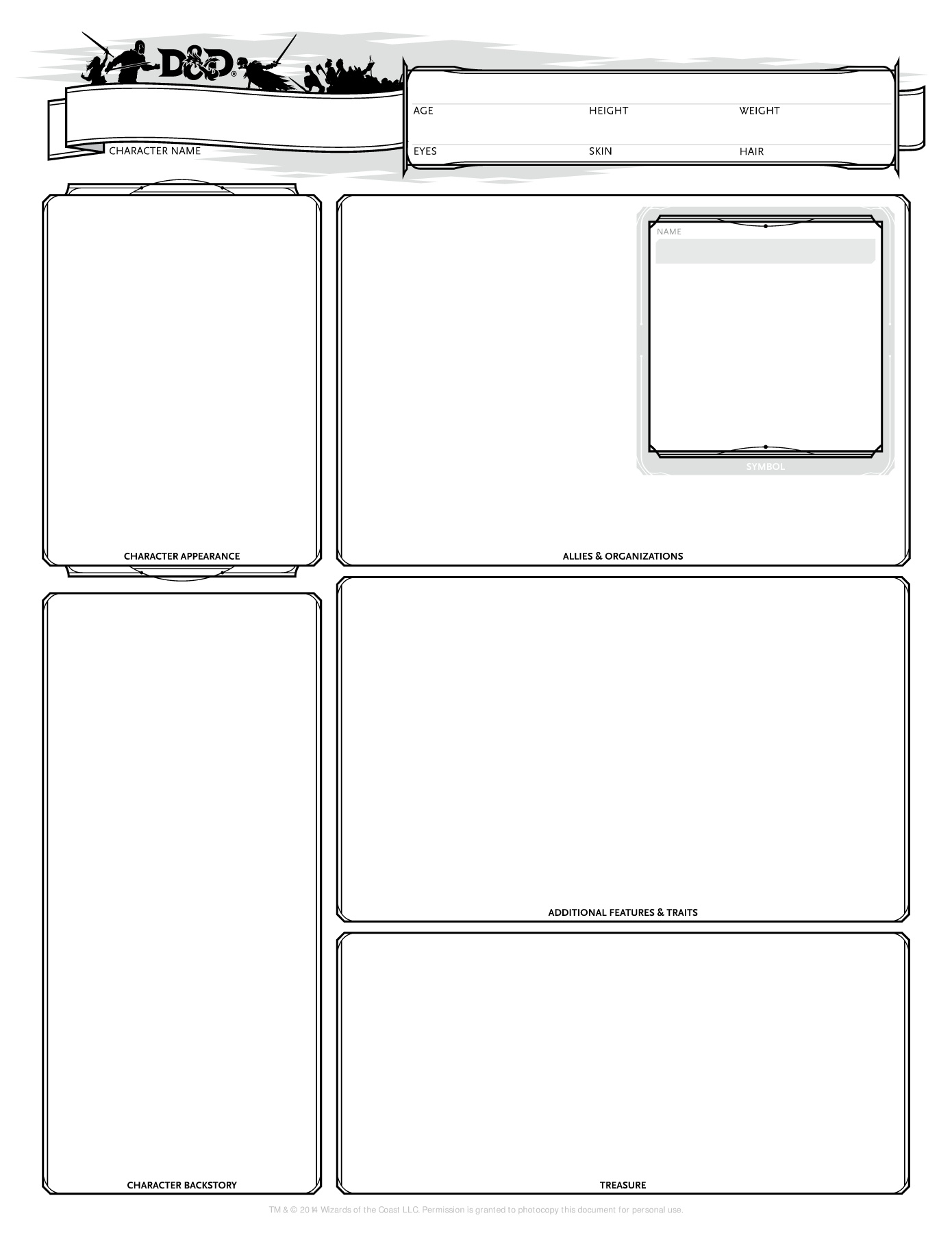 photo about Dnd 5e Printable Character Sheet identify TWC-DnD-5E-Personality-Sheet-v1.5 Internet pages 1 - 3 - Words Variation
