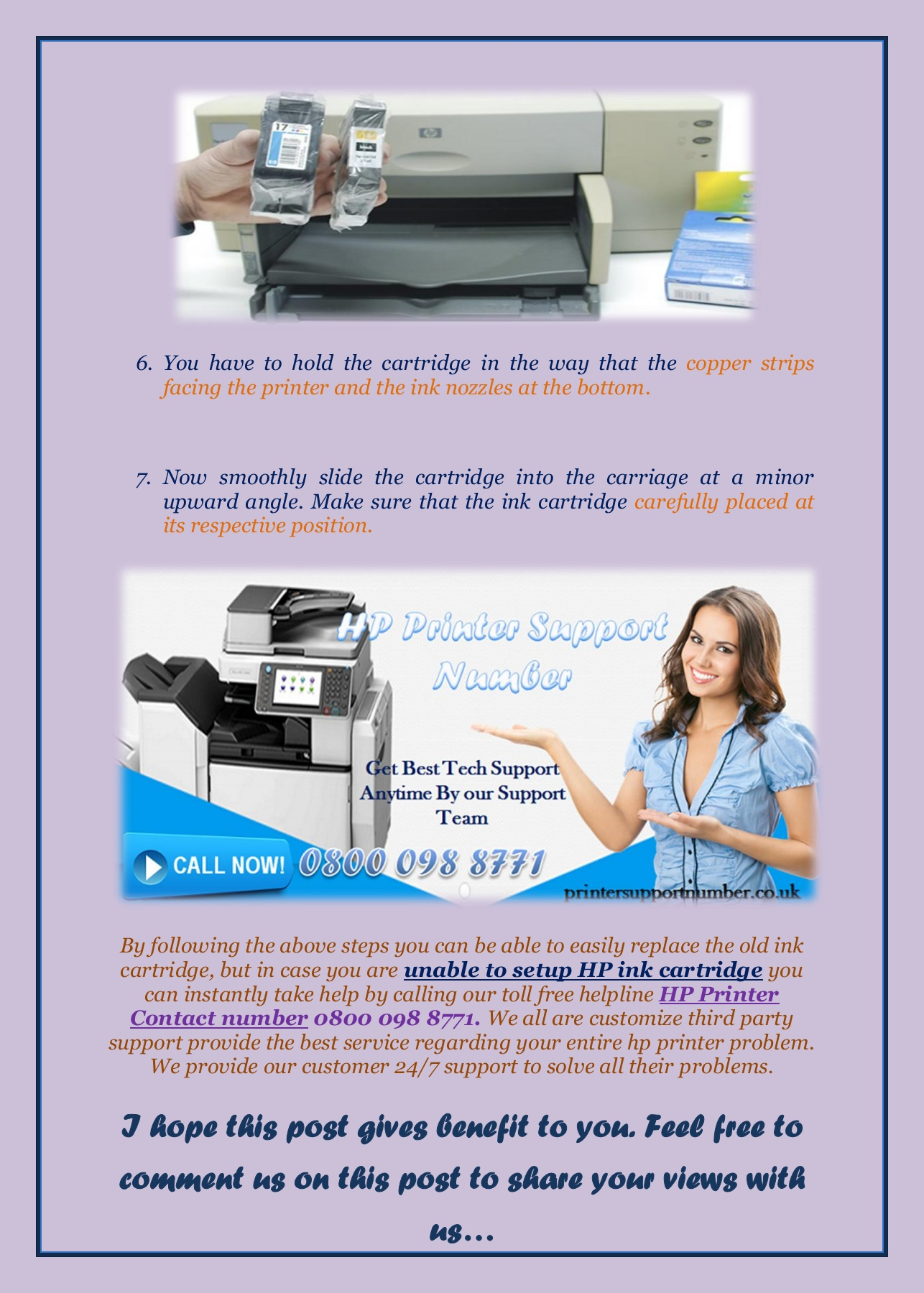 Methods to Replace Old Ink Cartridge Pages 1 - 3 - Text Version