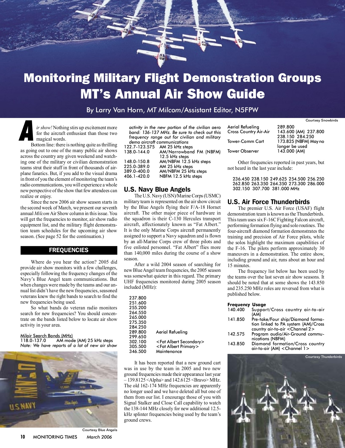 Monitoring Military Flight Demonstration Groups MT's