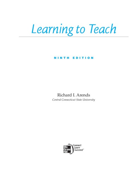 Richard Arends Learning To Teach Pdf 64 !!TOP!!