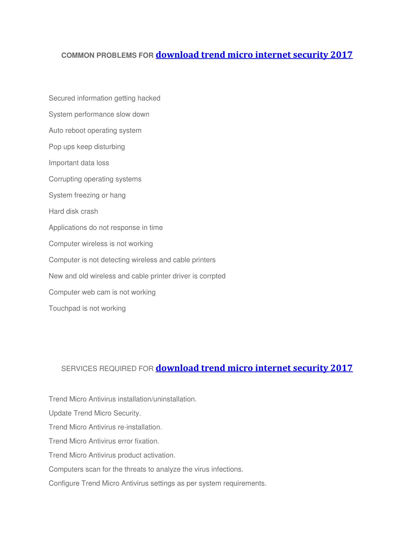 download trend micro internet security 2017 Pages 1 - 4