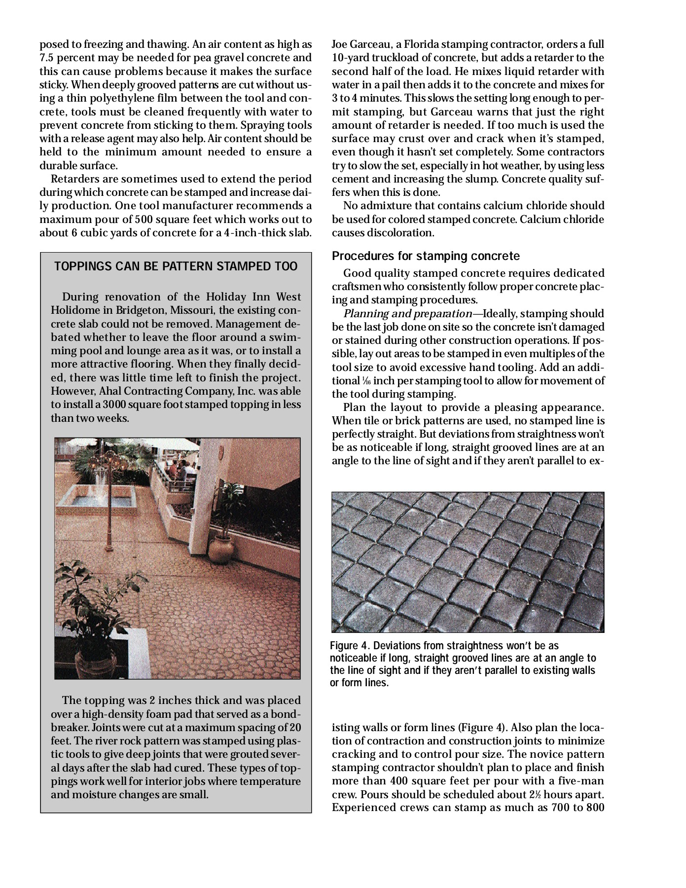 Stamped concrete - Concrete and Construction Pages 1 - 6 - Text
