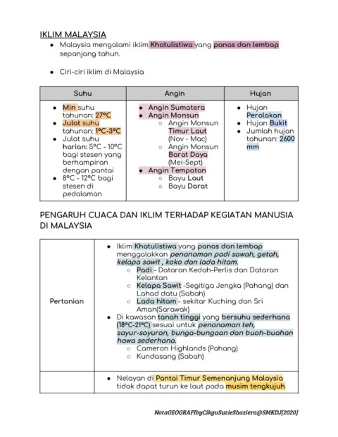 E Nota Geografi T2 Pages 1 12 Text Version Anyflip