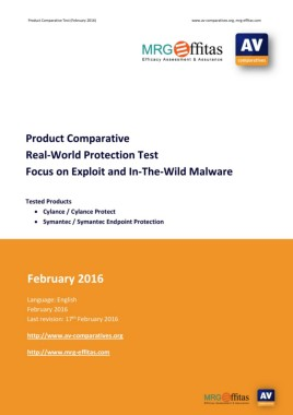 Product Comparative Real-World Protection Test Focus on