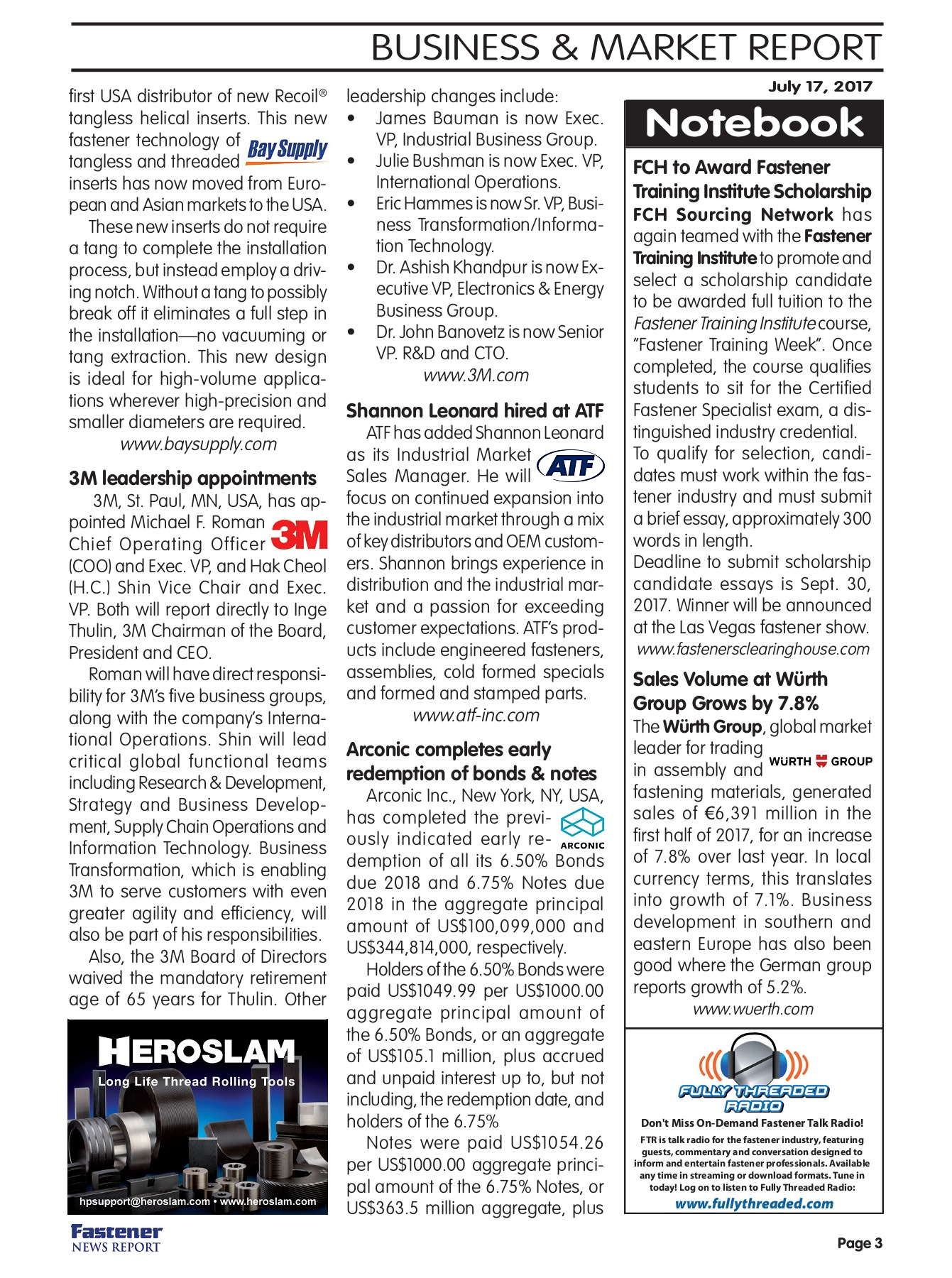 Fastener News Report July 17 Flipbook Edittion Pages 1 - 8 - Text