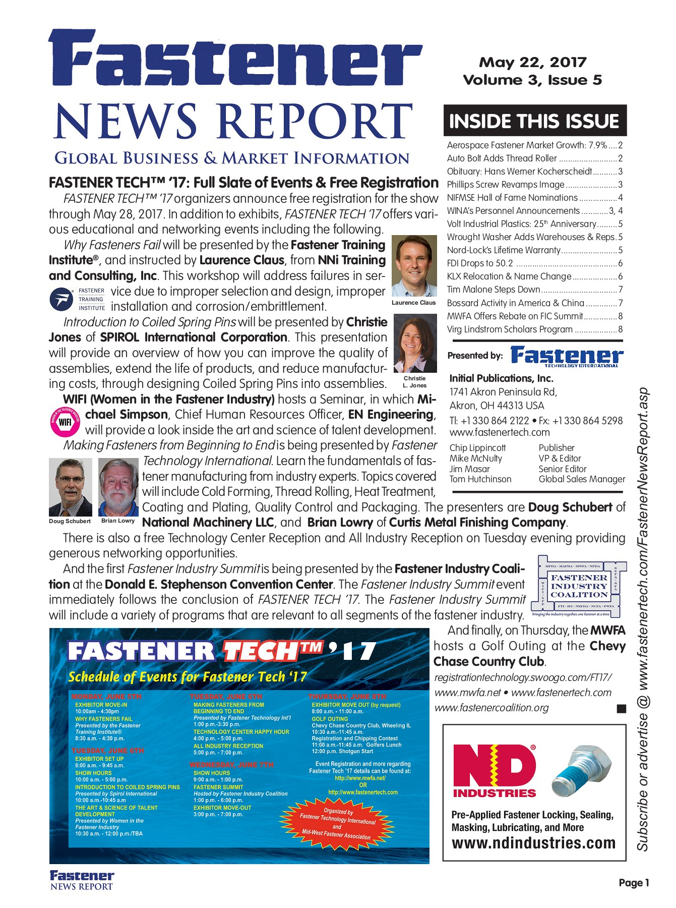 Fastener News Report May 22 Flip Book Edition Pages 1 - 8