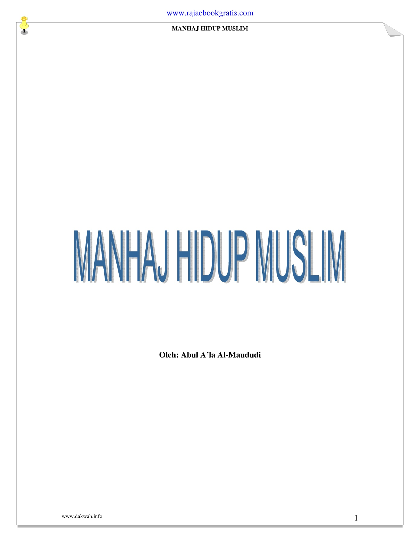 Manhaj Hidup Muslim Pages 51 96 Text Version Anyflip