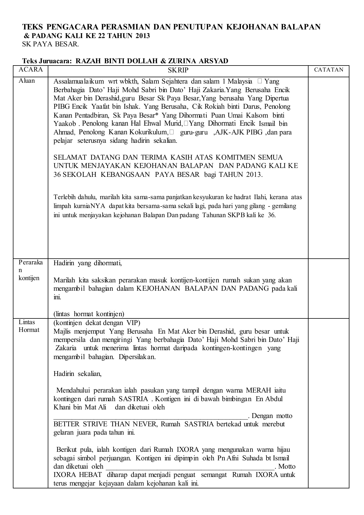 Teks Ucapan Pages 1 7 Text Version Anyflip