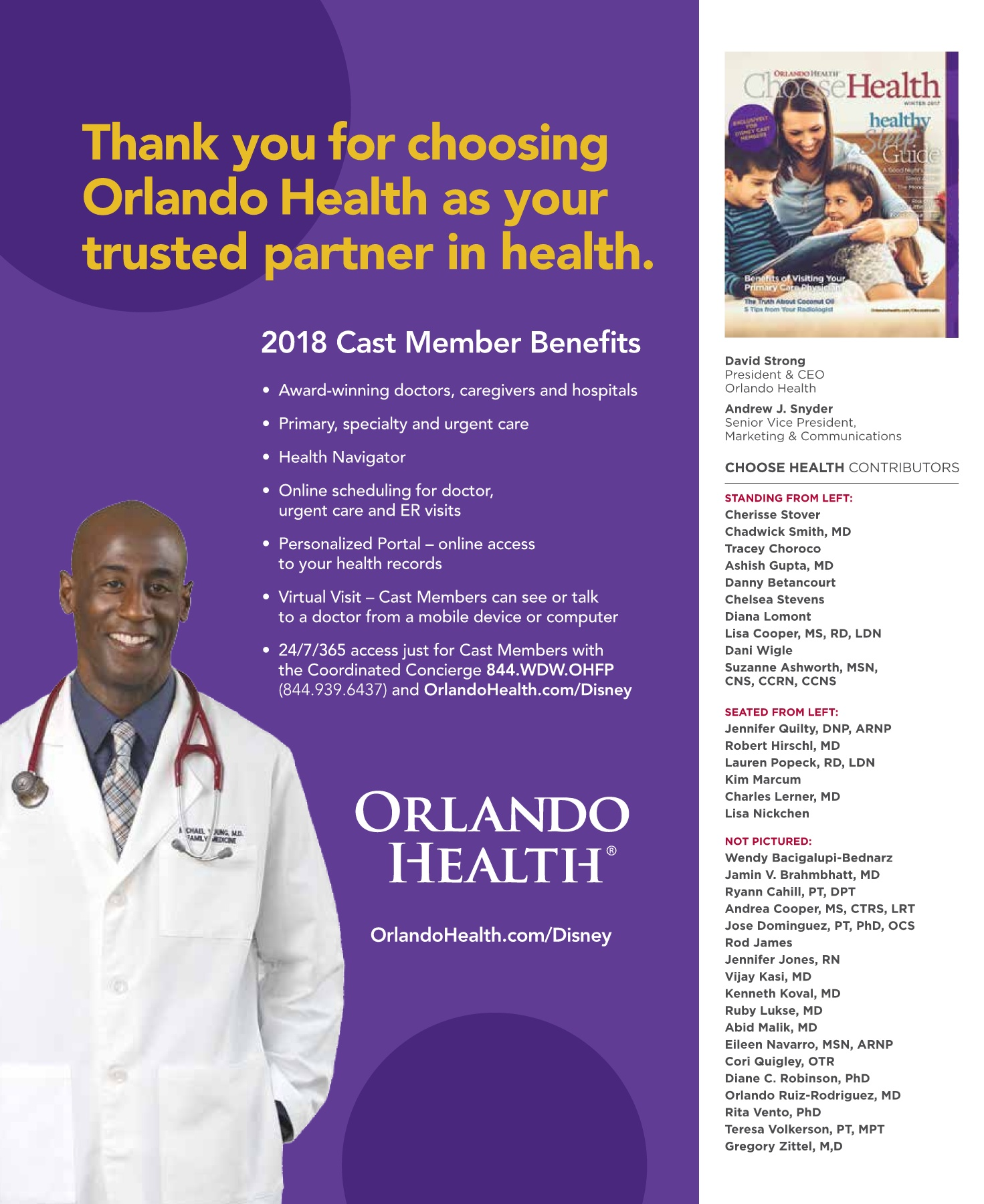 orlando health choose health magazine winter 2017 disney
