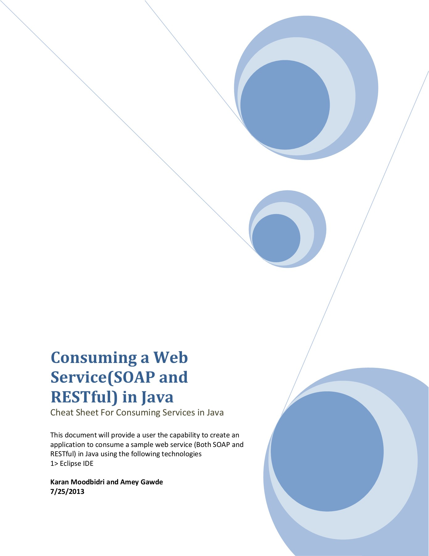 Consuming a Web Service(SOAP and RESTful) in Java