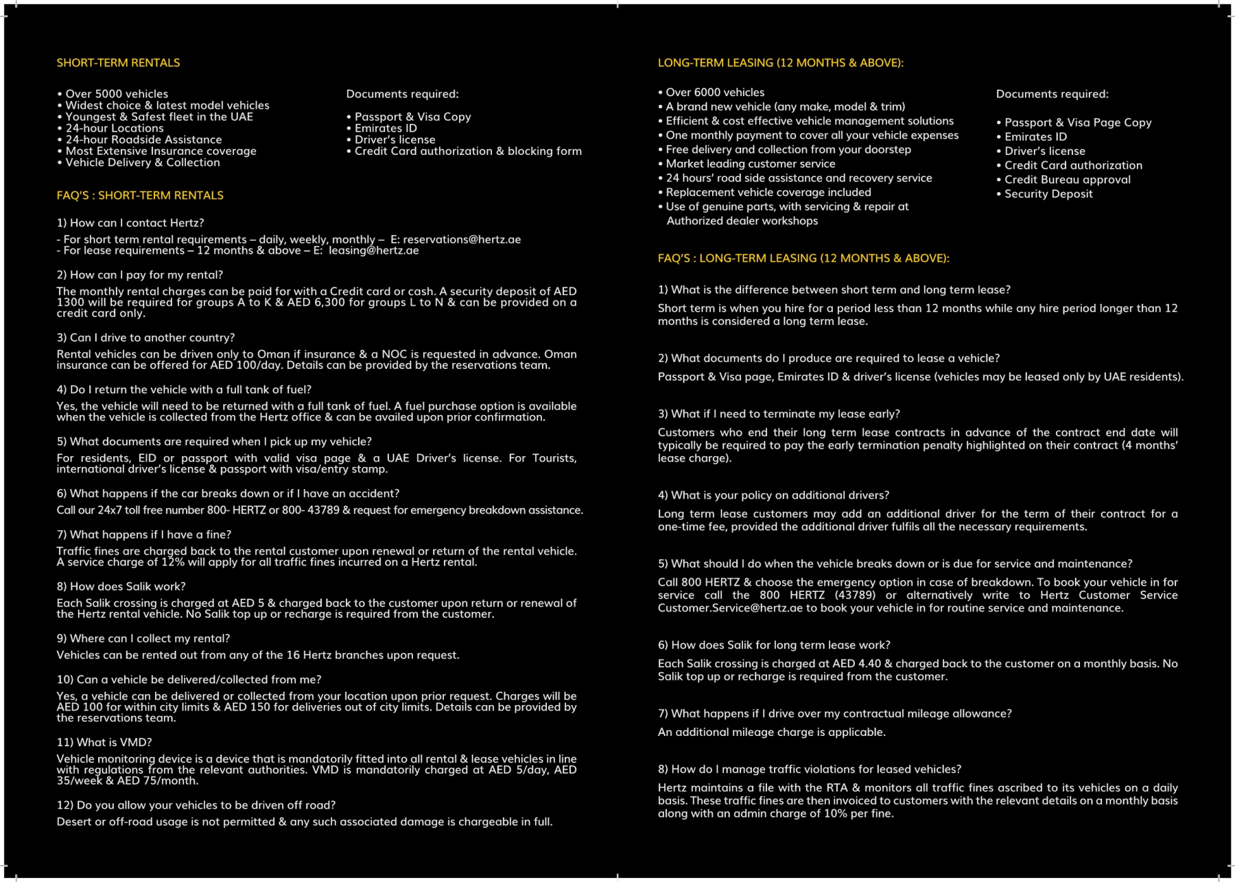 Hertz Monthly Rental >> Hertz Info 8 Aug 18 Pages 1 2 Text Version Anyflip