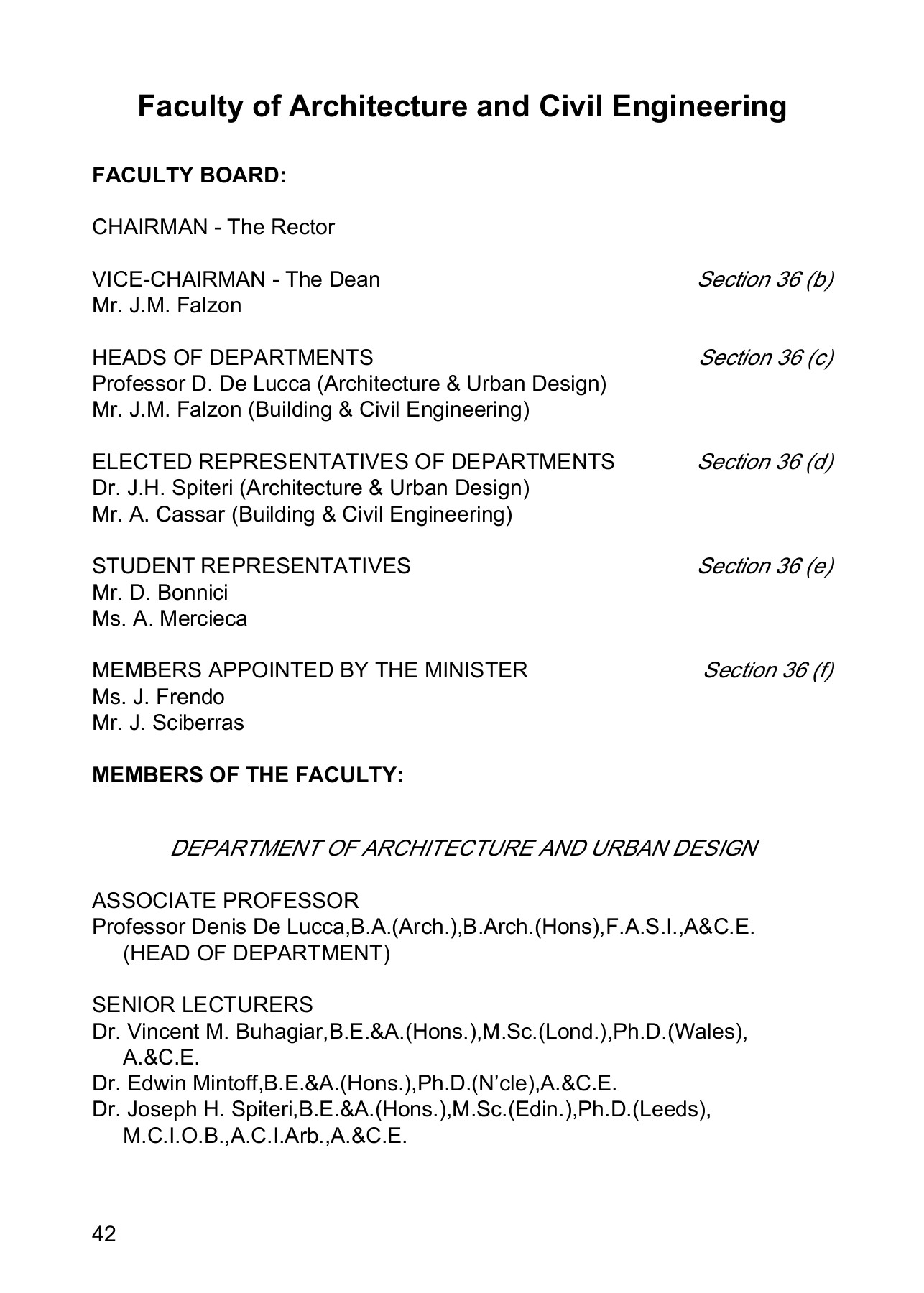 2 - FACULTIES - University of Malta Pages 1 - 50 - Text Version