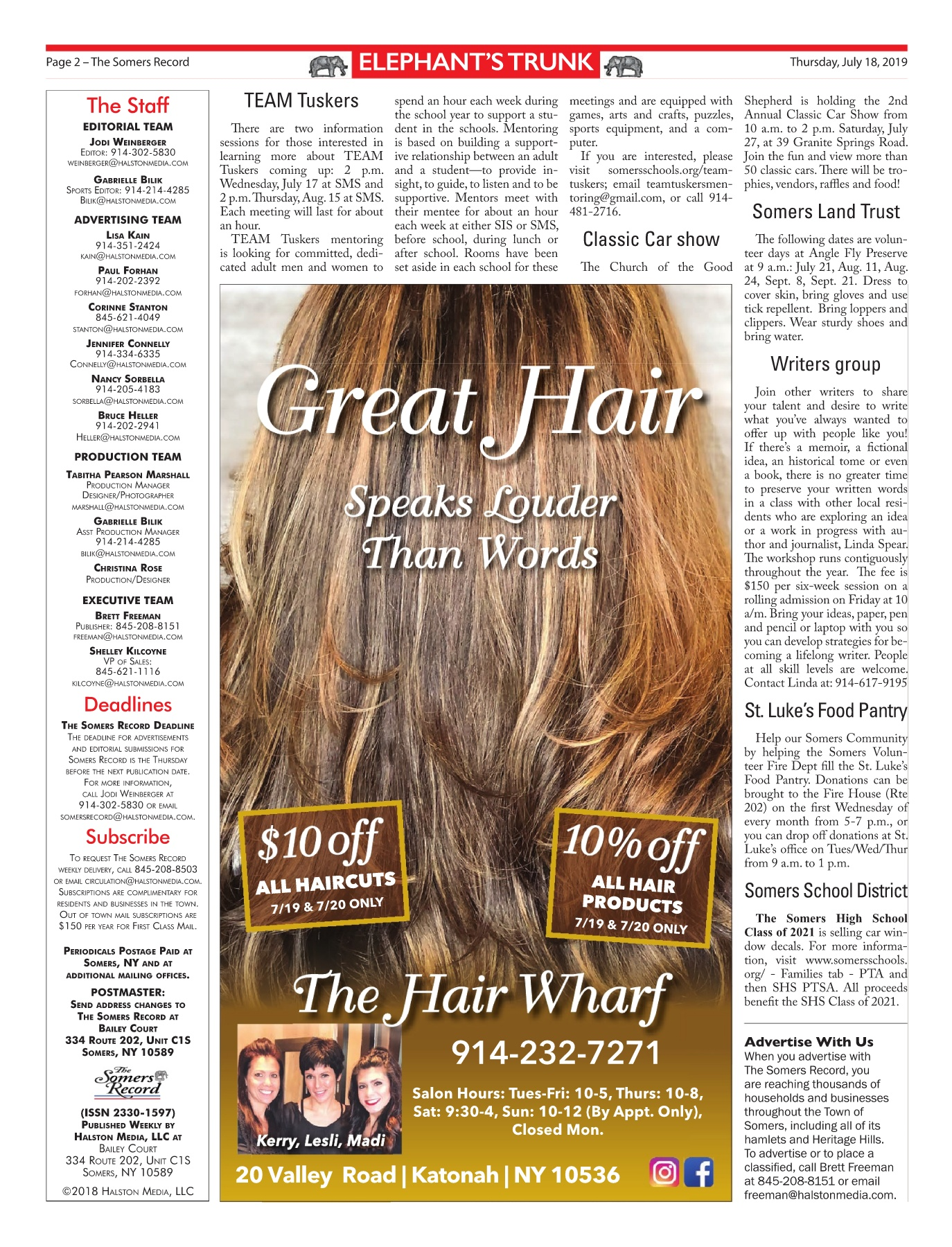 The Somers Record 07 18 19 Pages 1 - 32 - Text Version | AnyFlip