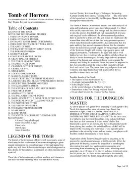Tomb of Horrors 5e Pages 1 - 13 - Text Version | AnyFlip