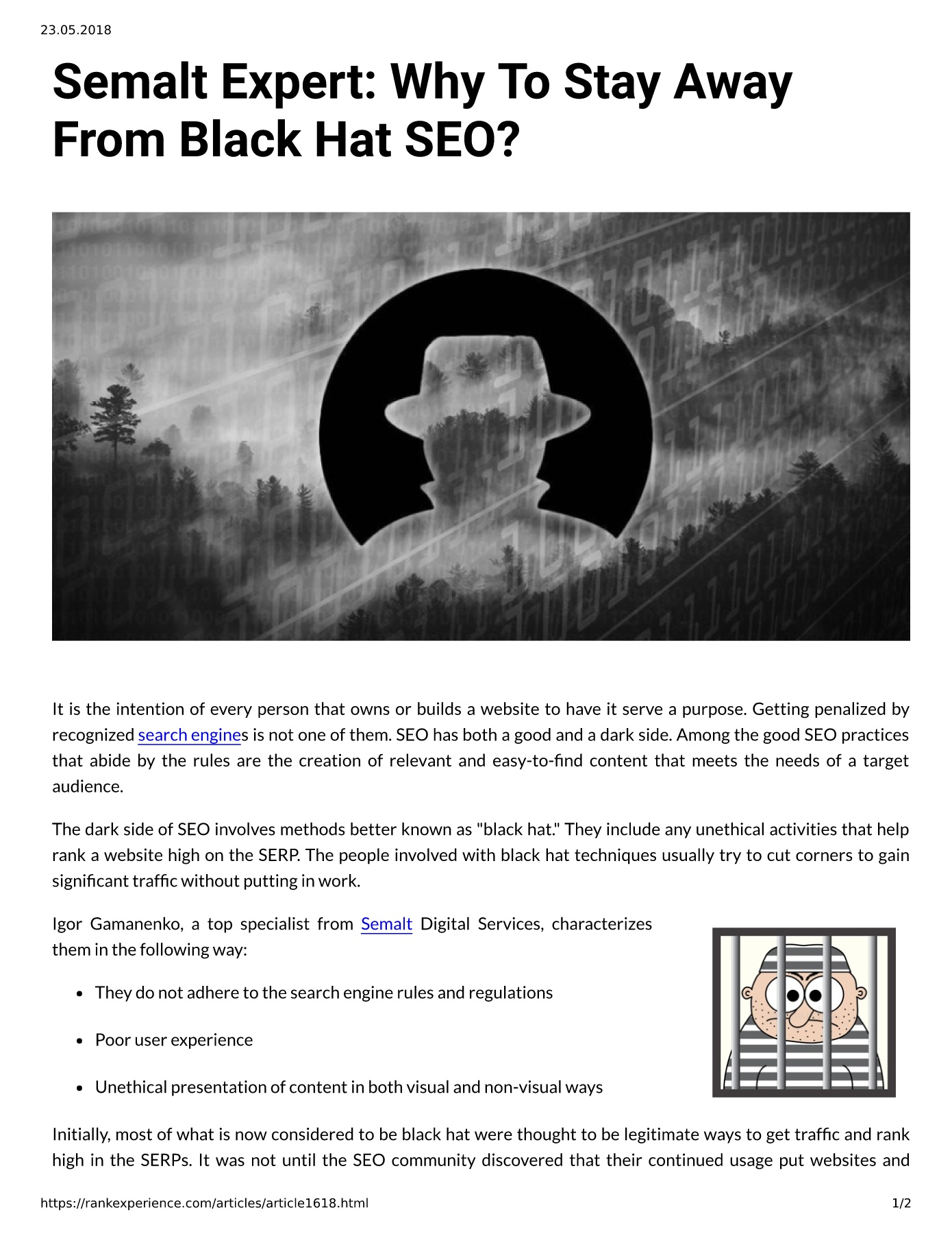 Semalt Expert: Why To Stay Away From Black Hat SEO?