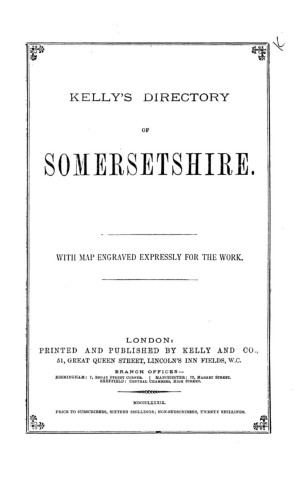 80f5cac27fa54 SOMERSETSHIRE - 1889 Pages 501 - 550 - Text Version | AnyFlip