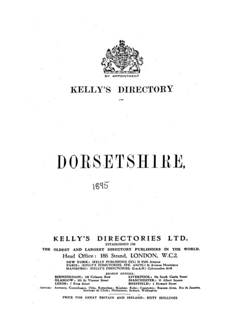 DORSETSHIRE - 1895 Pages 301 - 350 - Text Version | AnyFlip
