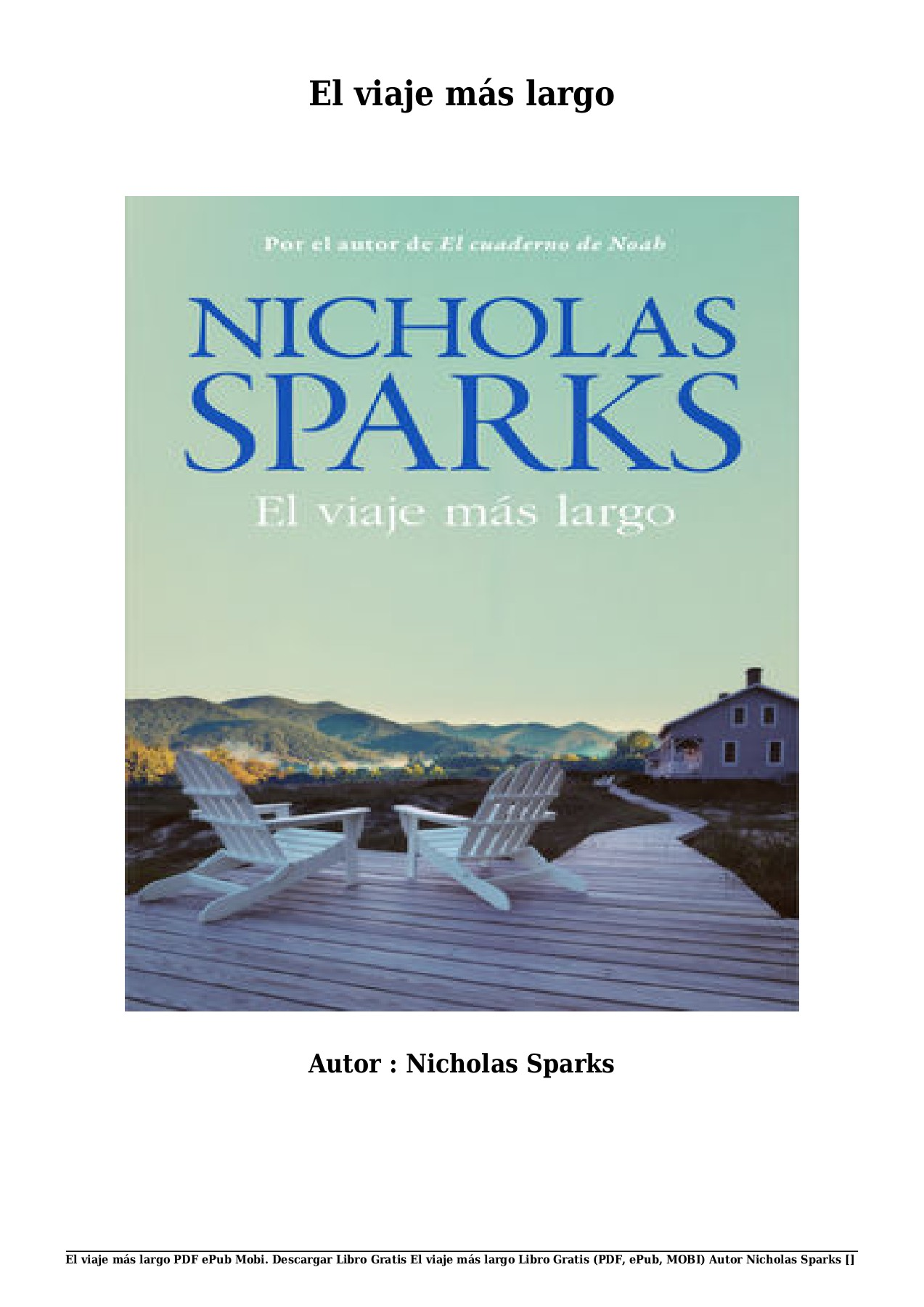 Nicholas Sparks Collection Pdf