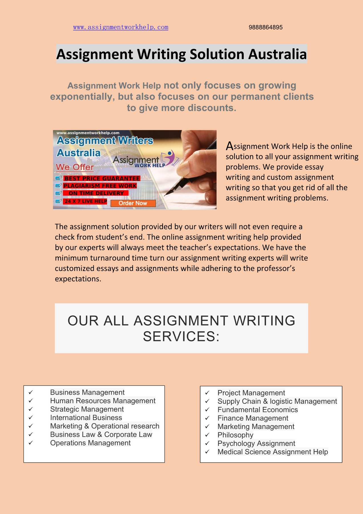 Assignment Writing Australia