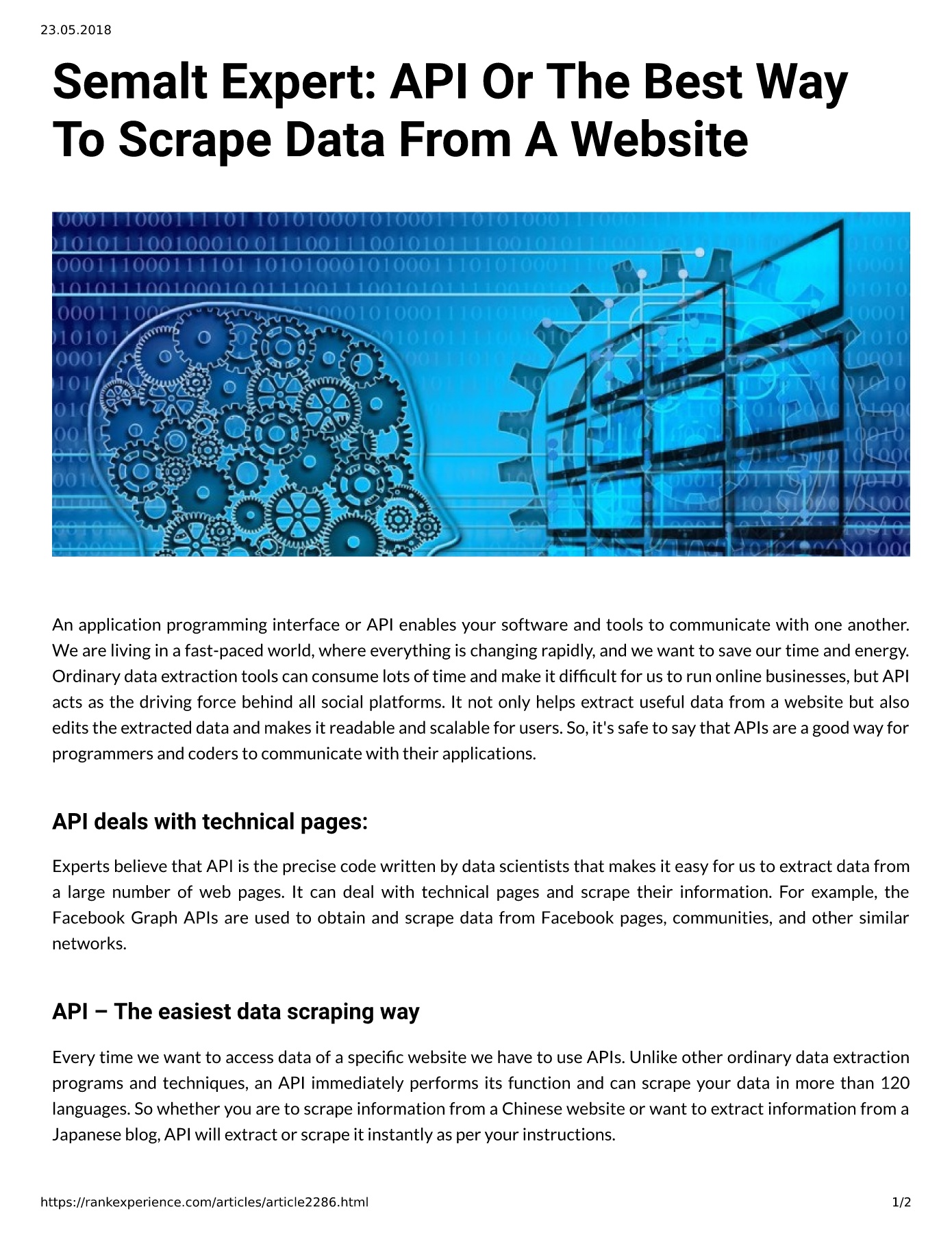 Semalt Expert: API Or The Best Way To Scrape Data From A