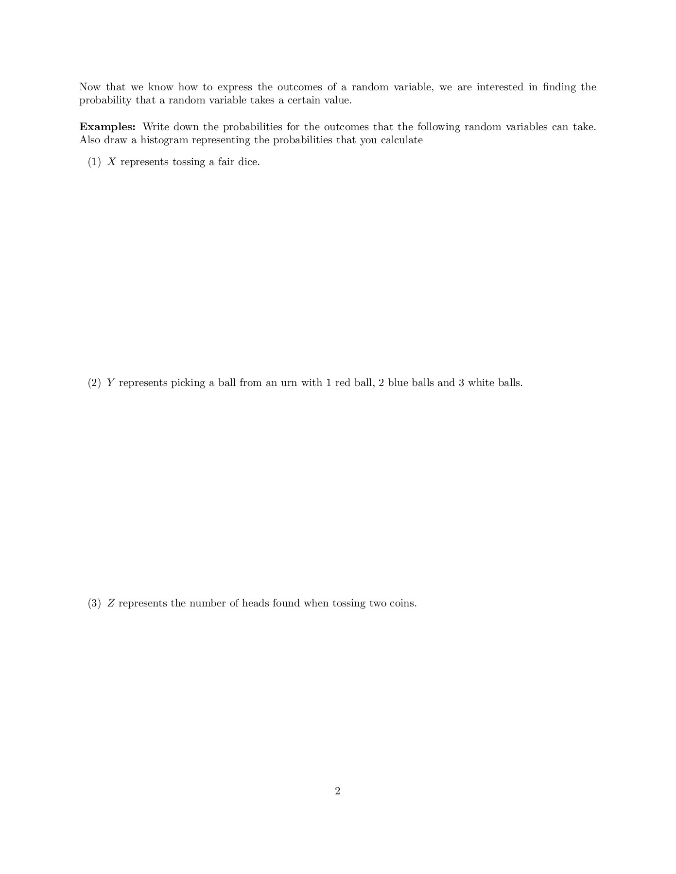 Probability Distributions and Expected Values Pages 1 - 8